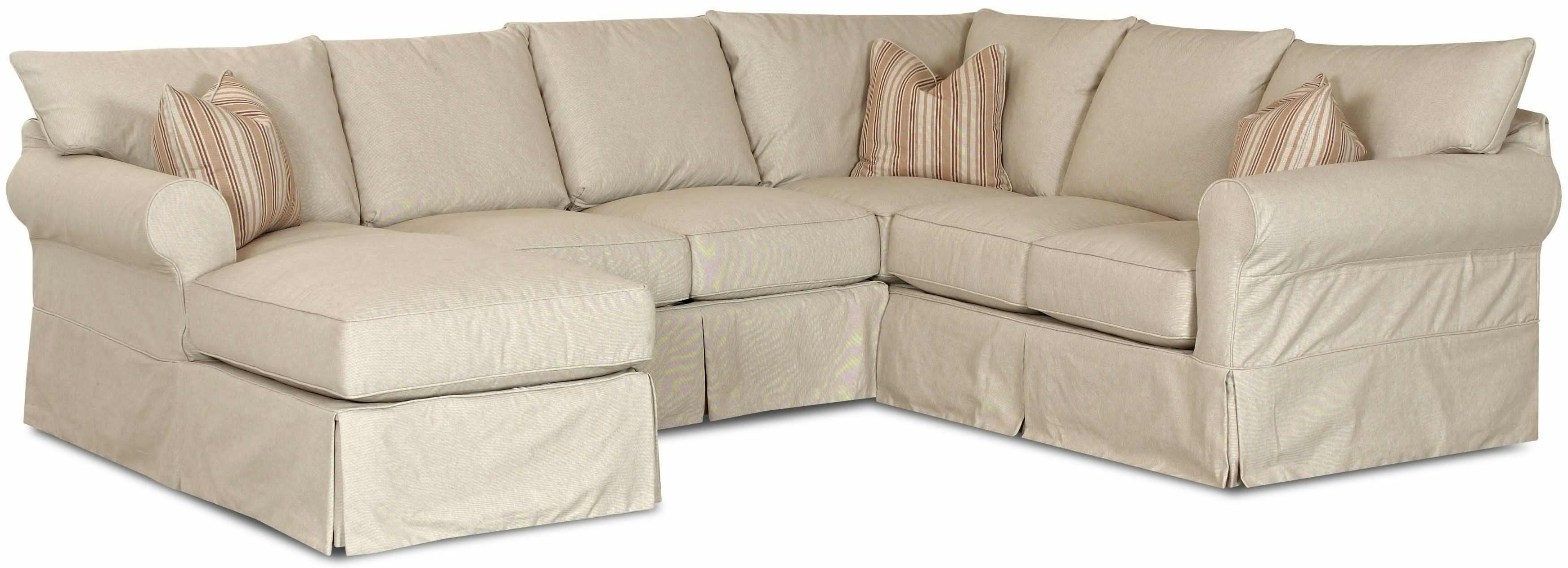 Favorite Slipcover Sectional Sofas With Chaise Intended For Sectional Sofa Design: Slipcovered Sectional Sofa Chaise Reviews (View 6 of 15)
