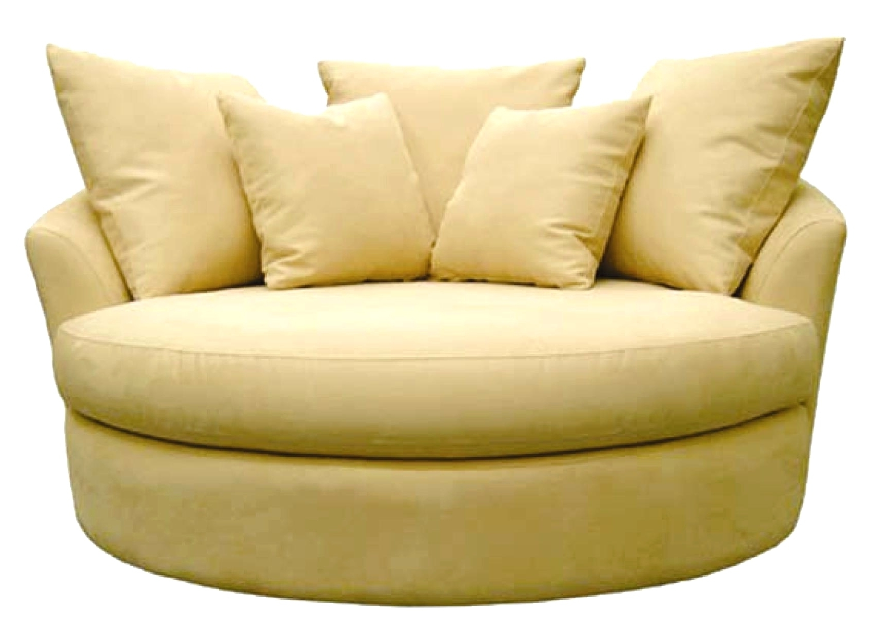 Favorite Snuggle Sofas For Sofas : Curved Sofa Swivel Snuggle Chair Big Round Swivel Chair (View 15 of 15)