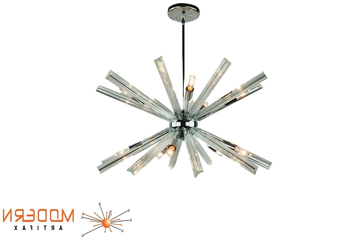 Favorite Sputnik Chandelier Chrome 27'' In Diameter With 20 Crystal Prisms For Chrome Sputnik Chandeliers (View 7 of 15)