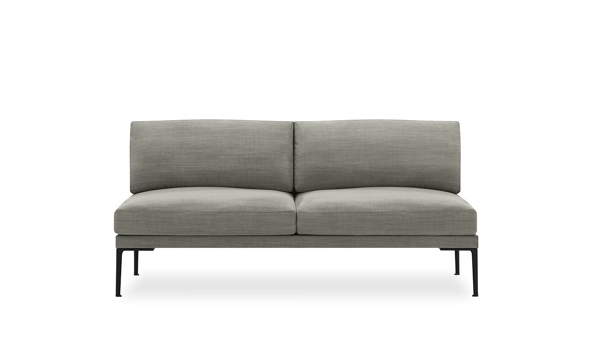 Favorite Steeve Two Seat Sofa Without Arms – Hivemodern In Two Seater Sofas (View 12 of 15)