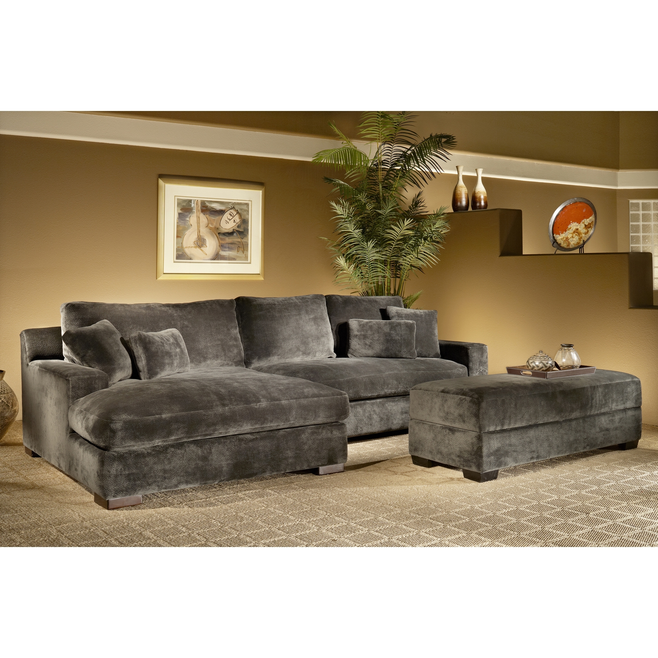 Favorite The Casual Contemporary Doris Two Piece Chaise Sectional Is Throughout Overstock Chaises (View 9 of 15)