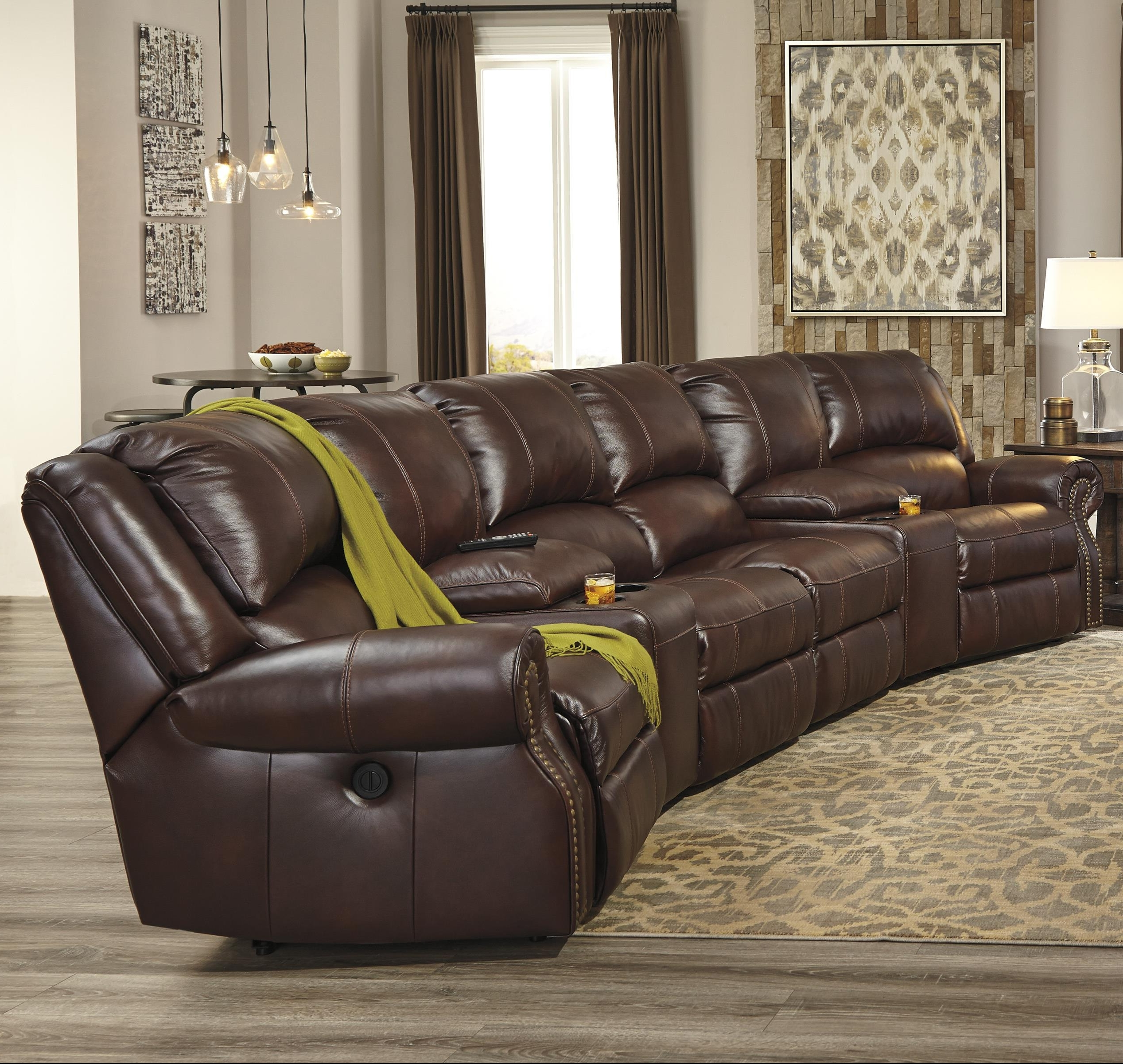 Favorite Theatre Sectional Sofas Regarding Collinsville 6 Piece Power Recline Theater Seating Group (View 7 of 15)