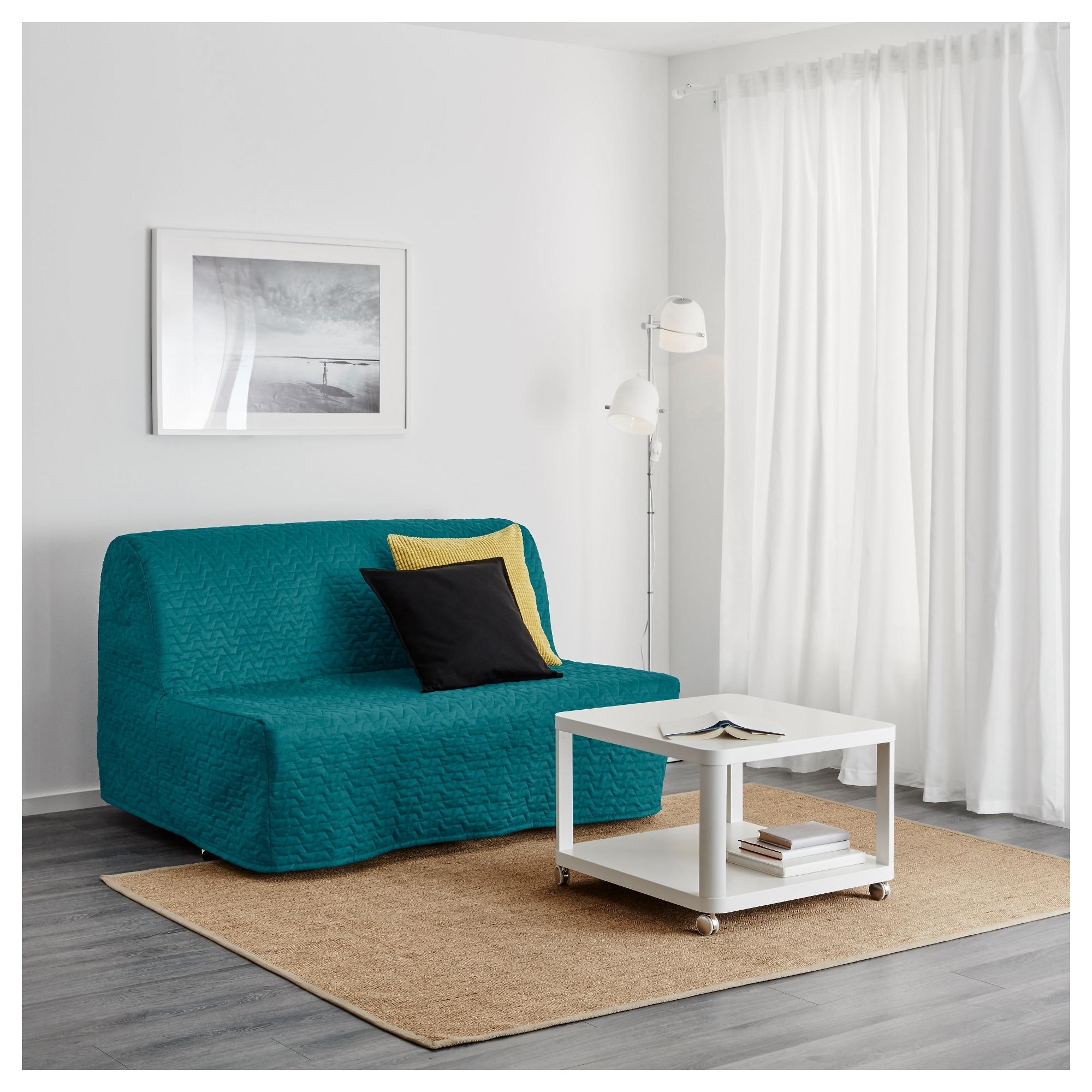Favorite Turquoise Sofas With Lycksele Lövås Sleeper Sofa – Ransta White – Ikea (View 12 of 15)