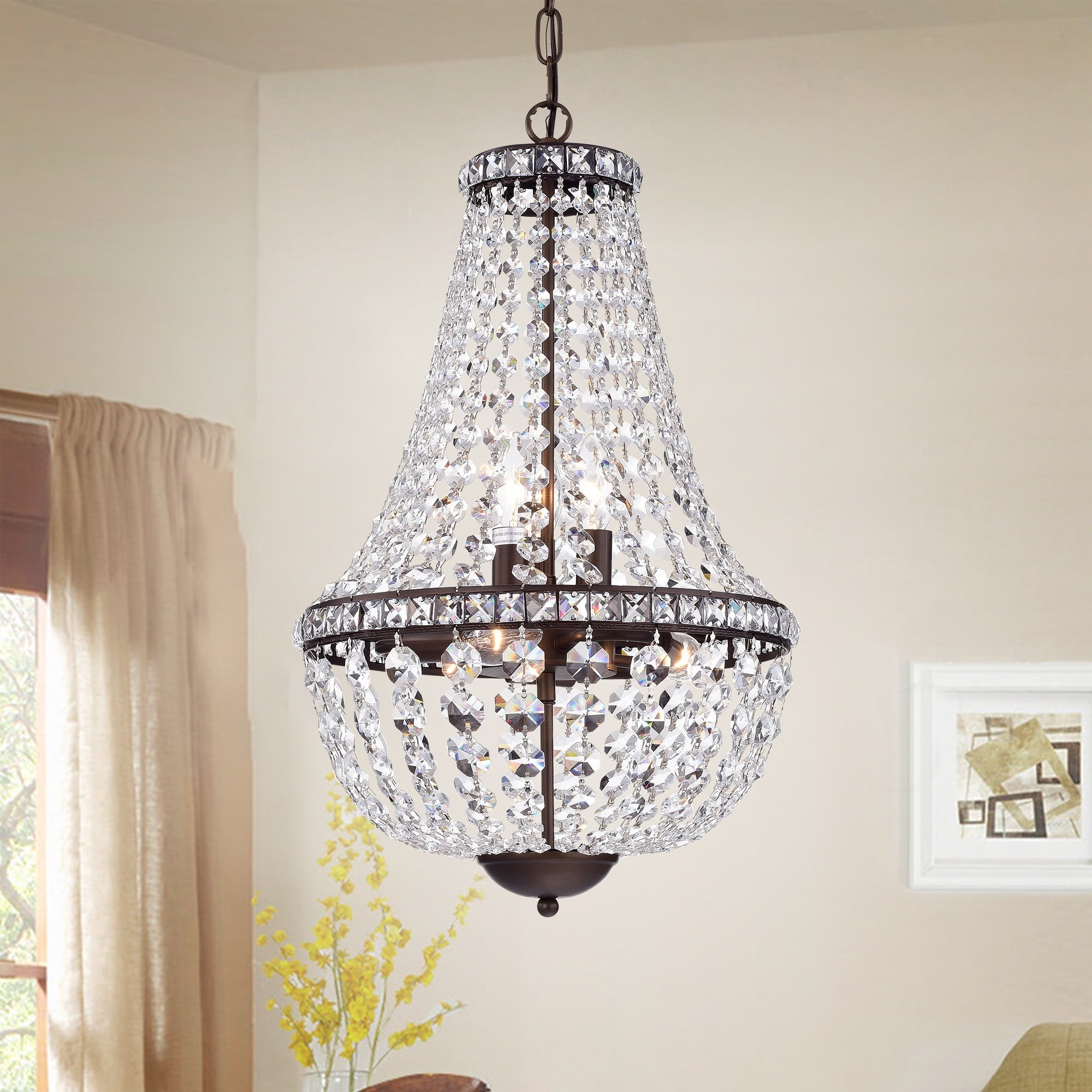 Favorite Uanah 6 Light Crystal Antique Black Chandelier – Free Shipping Today Intended For Antique Black Chandelier (View 9 of 15)