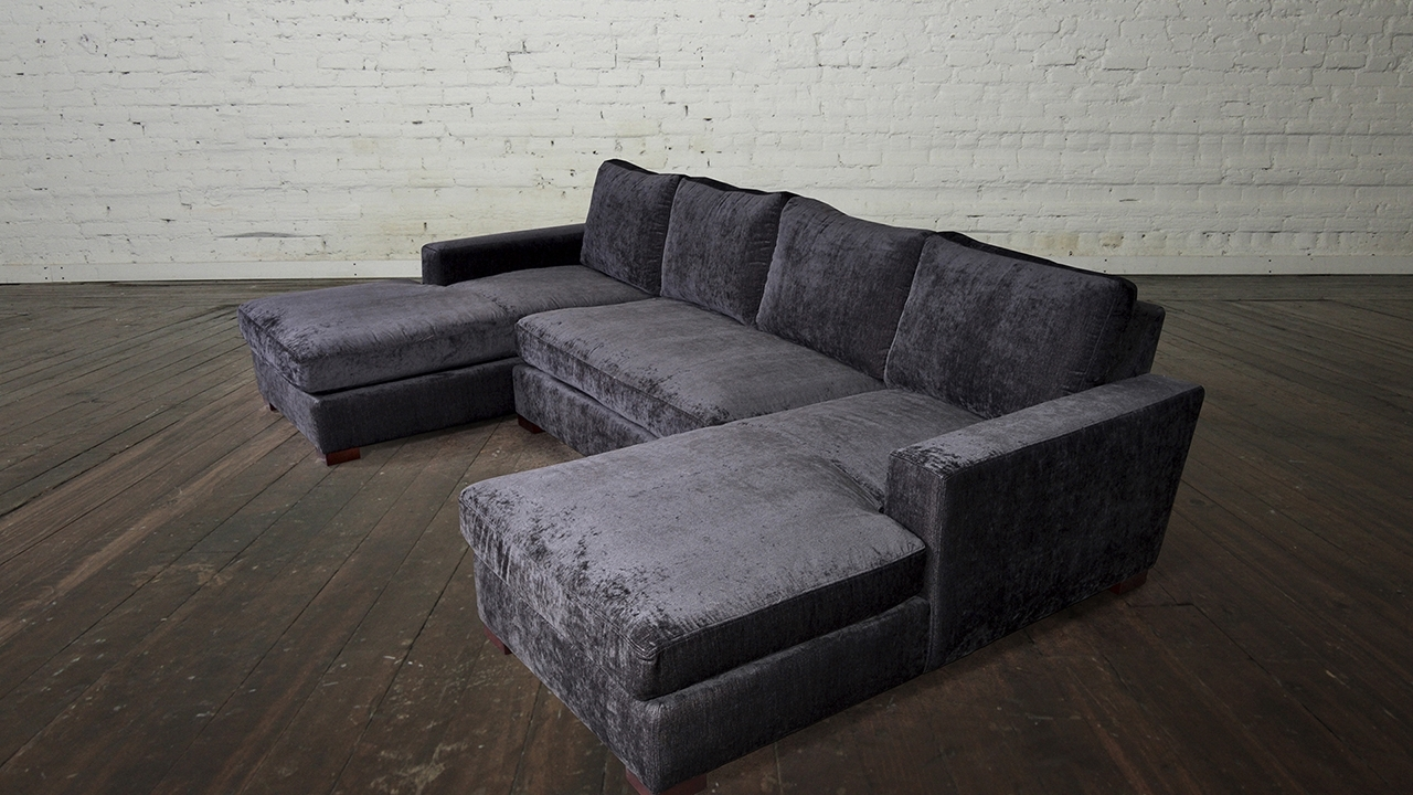 Favorite Wonderful Double Chaise Lounge Sofa With Living Room Double Chaise In Double Chaise Lounges (View 9 of 15)