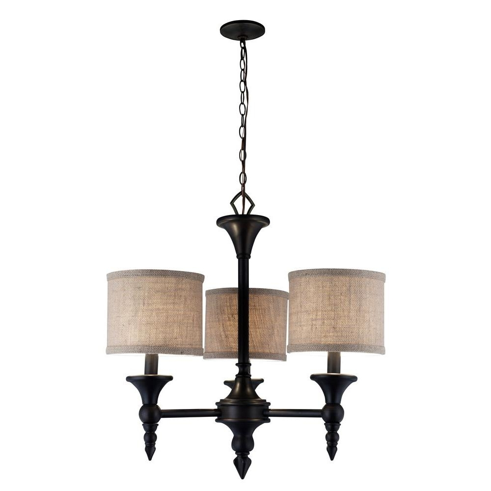 Favorite World Imports Jaxson Collection 3 Light Oil Rubbed Bronze Chandelier Intended For Bronze Modern Chandelier (View 6 of 15)