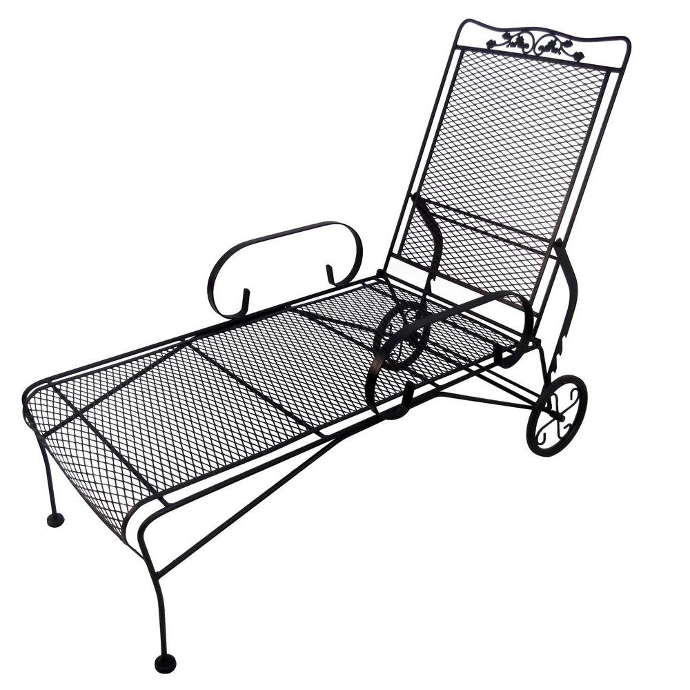 Featured Photo of Wrought Iron Outdoor Chaise Lounge Chairs