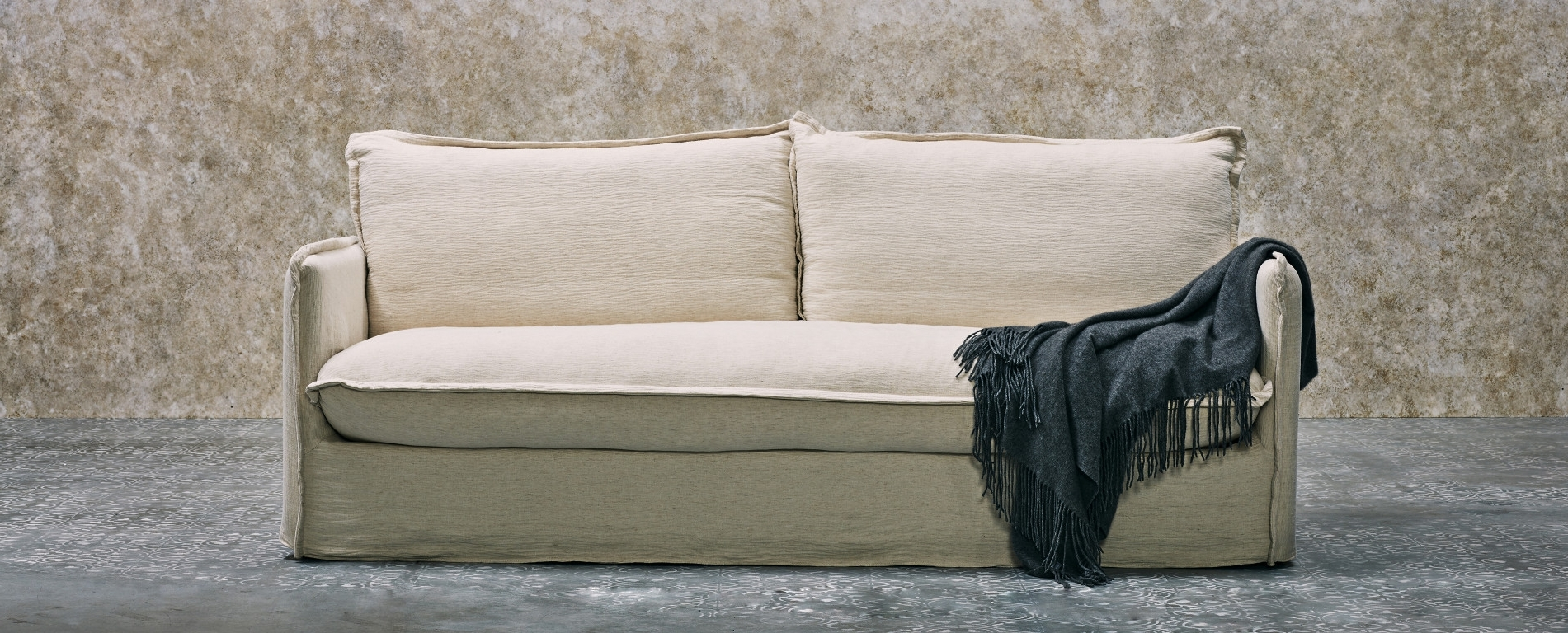 Feather Filled Sofa W/ Pillow Style Cushions (View 12 of 15)