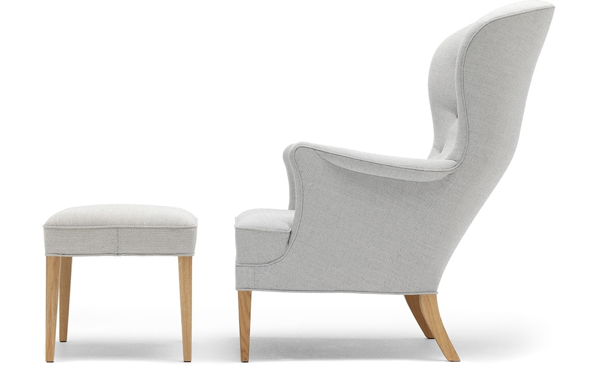 Fh419 Heritage Lounge Chair & Ottoman – Hivemodern In Best And Newest Chairs With Ottoman (View 10 of 15)