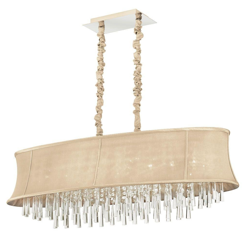 Filament Design Minta 8 Light Polished Chrome Chandelier With Cream In Most Up To Date Cream Chandelier (View 7 of 15)