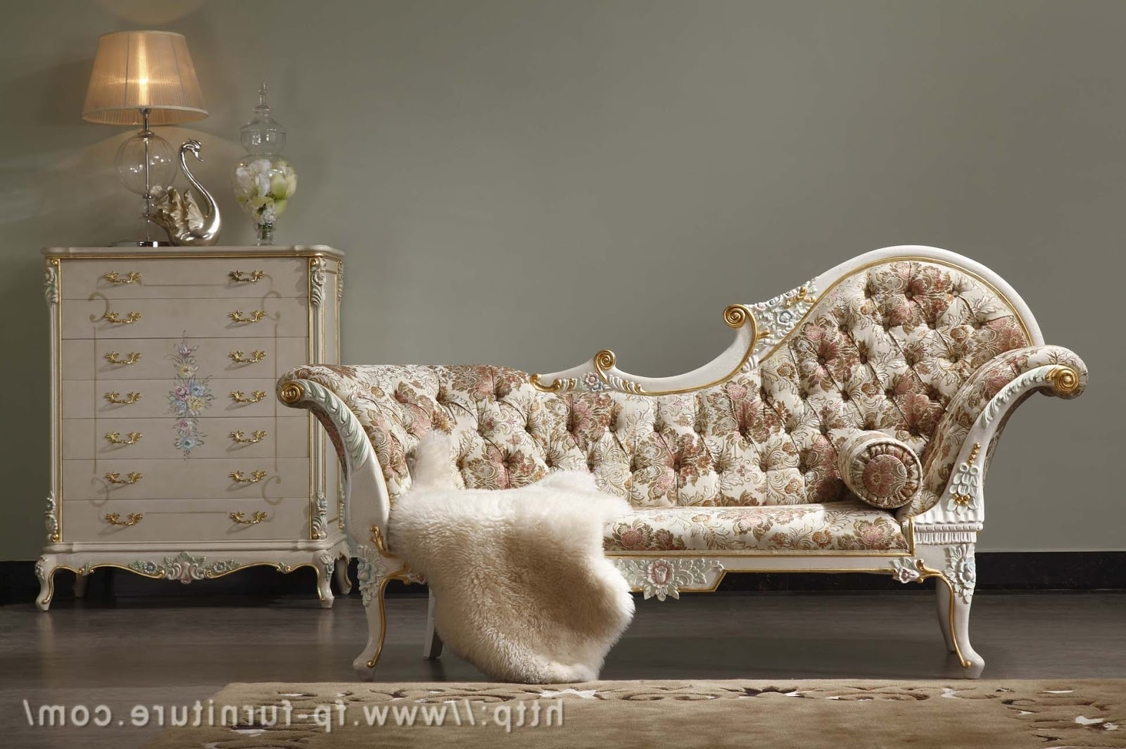 Filiphs Palladio: Italian Classic Hand Carved Royal Furniture With Regard To Fashionable European Chaise Lounge Chairs (View 3 of 15)