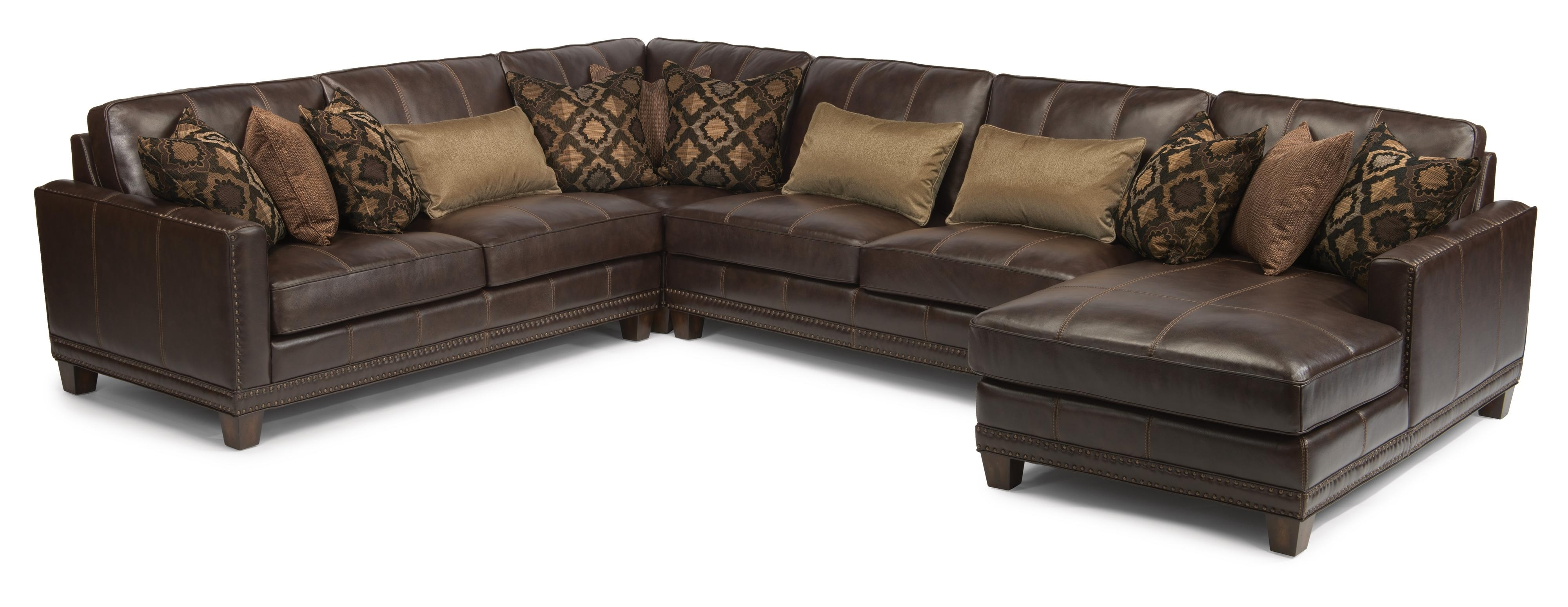 Flexsteel Latitudes – Port Royal Transitional Four Piece Sectional Intended For Fashionable Royal Furniture Sectional Sofas (View 14 of 15)