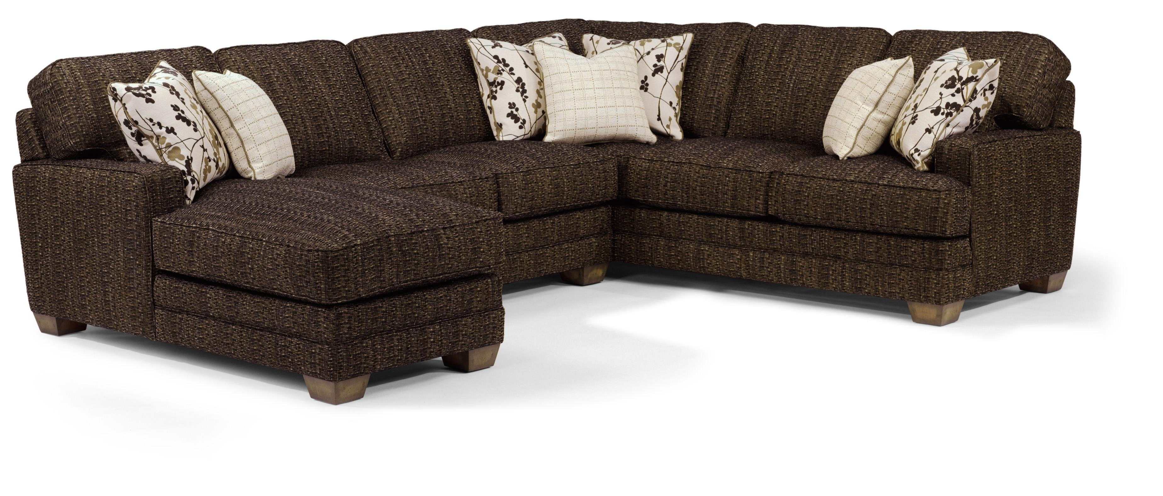 Flexsteel That's My Style <B>Customizable</b> 3 Piece Sectional In Recent Duluth Mn Sectional Sofas (View 9 of 15)