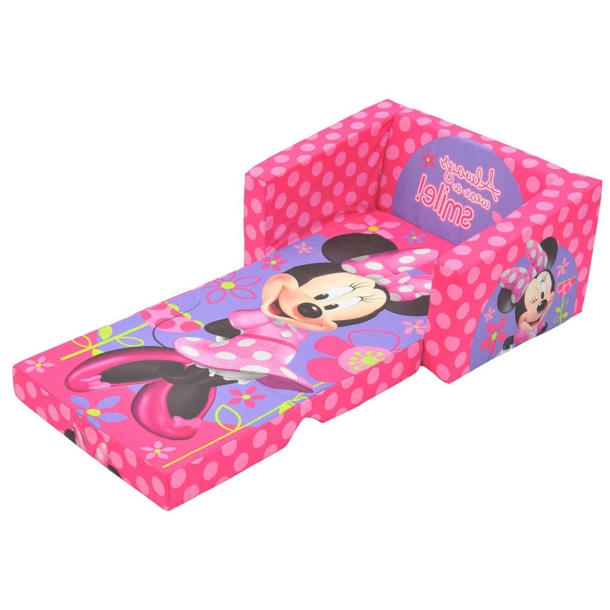 Flip Out Sofas Inside Widely Used Minnie Mouse Flip Out Sofa Bed • Sofa Bed (View 6 of 15)