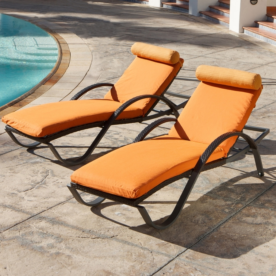 Floating Chaise Lounges Inside Widely Used Chaise Floating Pool Lounge Chair With Orange Tone Fit With Black (View 9 of 15)