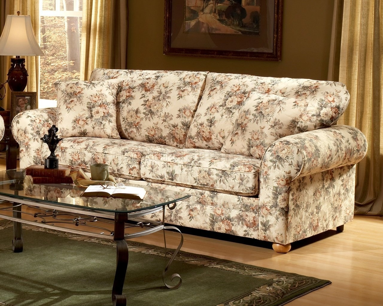 Floral Sofas And Chairs With Regard To Well Known Furniture: Beautiful Flowered Couches For Your Living Room Design (View 14 of 15)