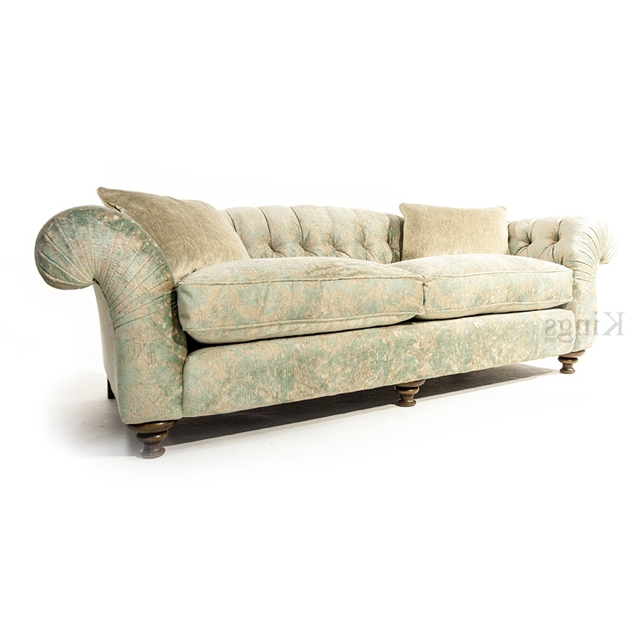 Florence Grand Sofas Within 2018 John Sankey Bloomsbury Grand Sofa In Florence Velvet Haze (View 9 of 15)