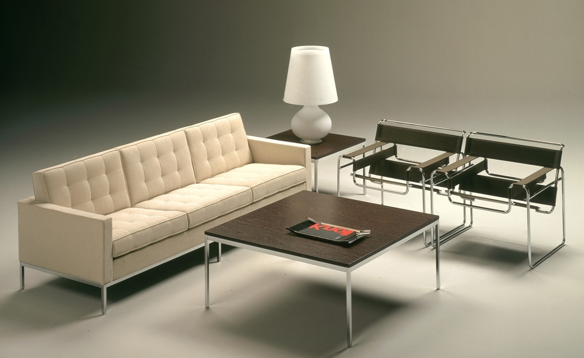 Florence Knoll Living Room Sofas For Widely Used Florence Knoll 3 Seat Sofa – Hivemodern (View 15 of 15)