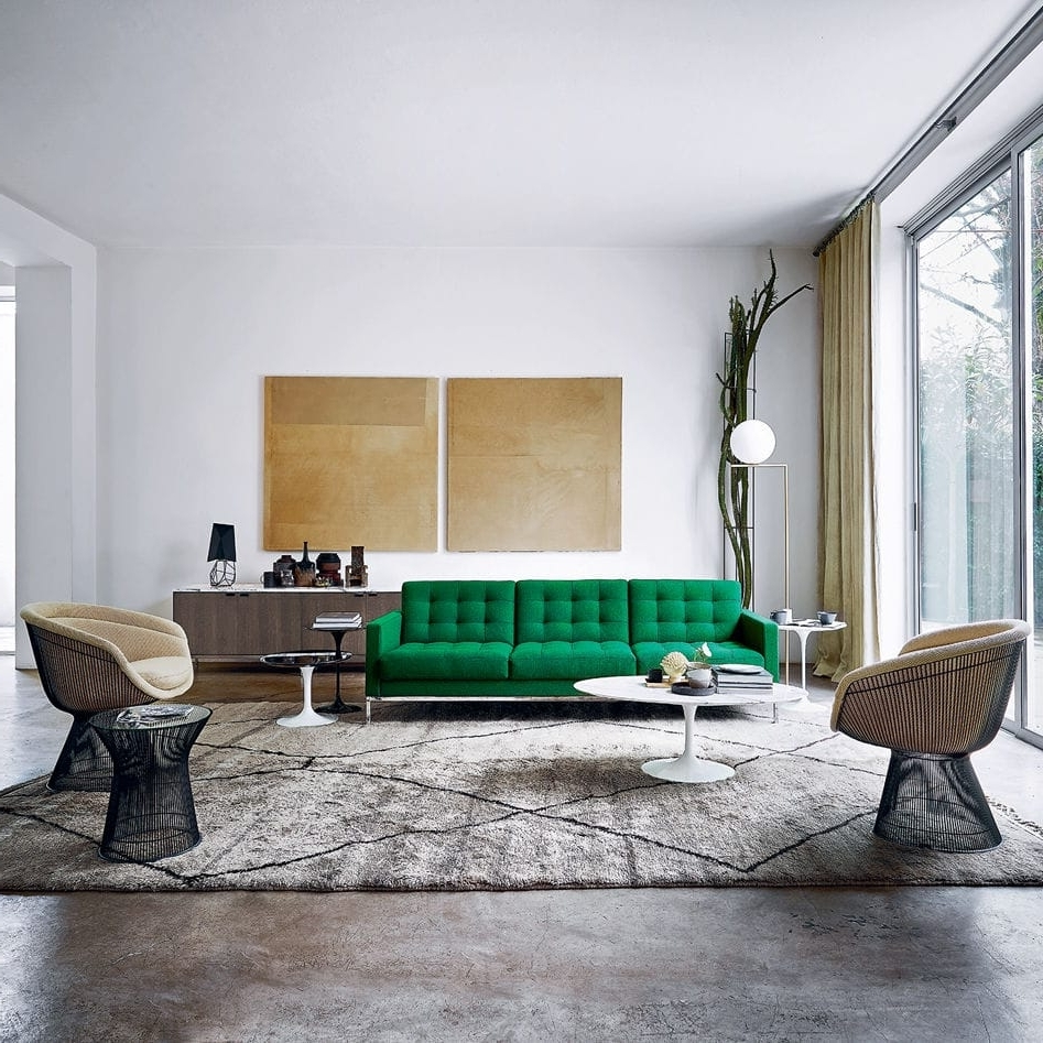 Florence Knoll Living Room Sofas Intended For Famous Contemporary Sofa / Fabric / Leather /florence Knoll – Relax (View 9 of 15)