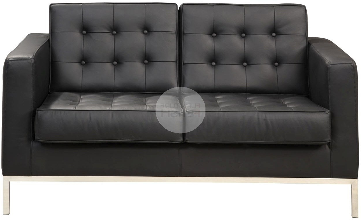 Florence Knoll Replica 2 Seater Sofa – Black Furniture Fetish Gold Regarding Most Current Black 2 Seater Sofas (View 13 of 15)