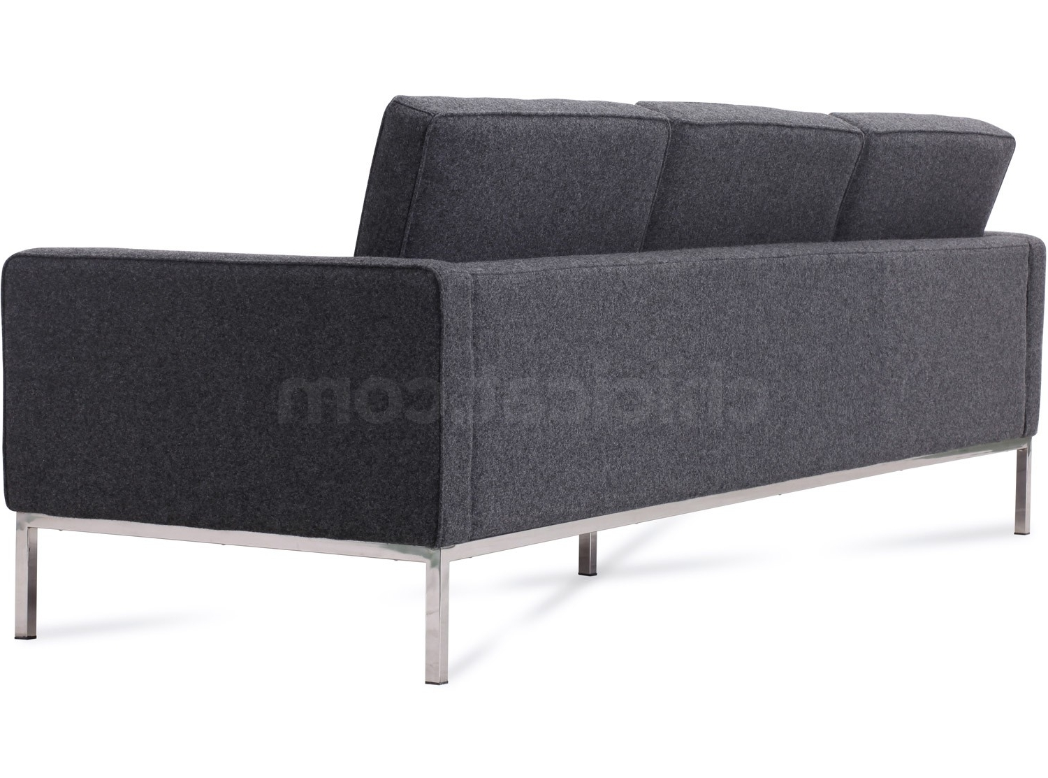 Florence Knoll Sofa 3 Seater Wool (Platinum Replica) Throughout Trendy Florence Knoll 3 Seater Sofas (View 10 of 15)