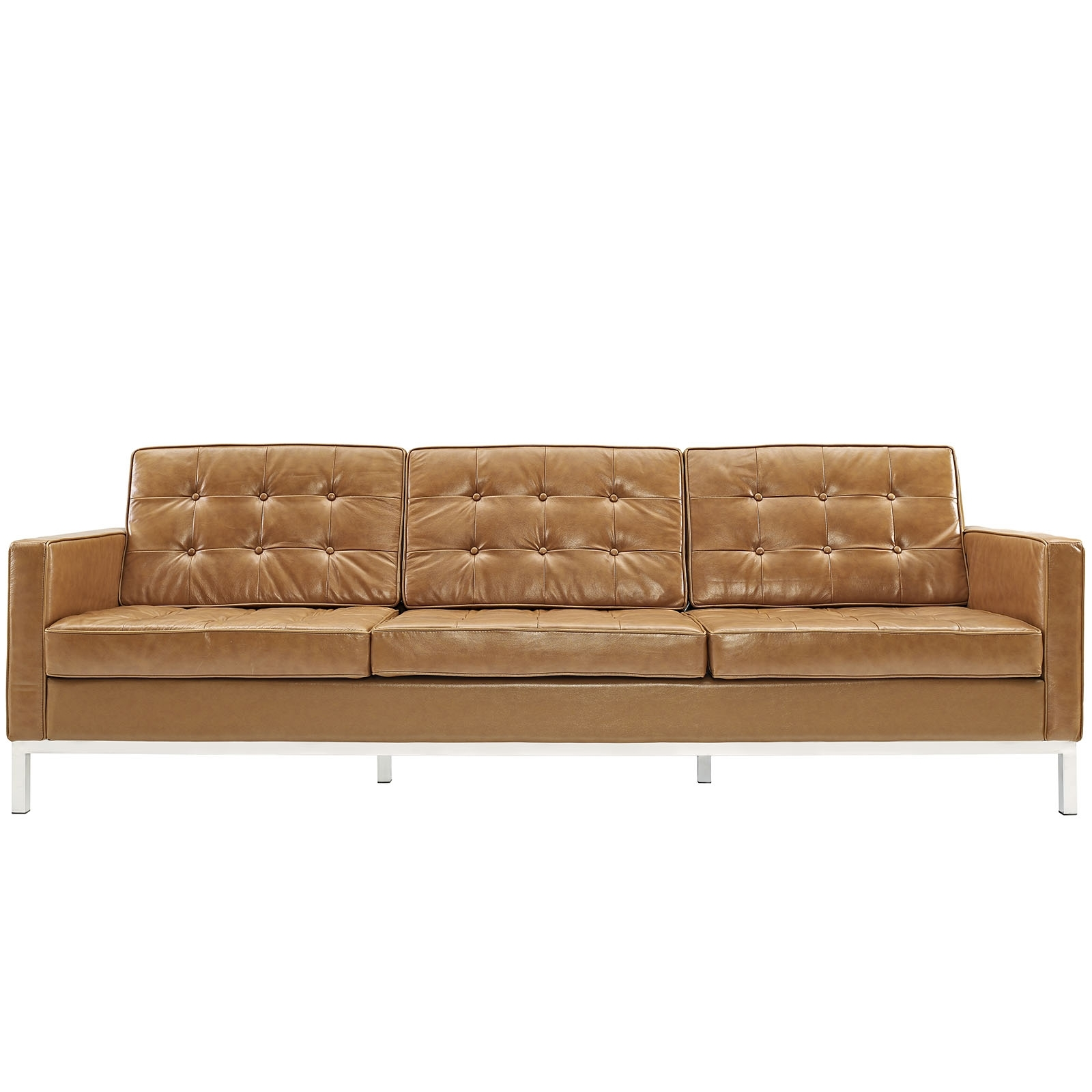 Florence Knoll Style Sofa Couch – Leather Inside Widely Used Florence Knoll Leather Sofas (View 3 of 15)