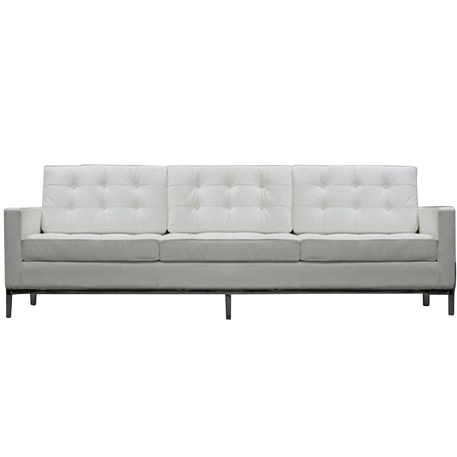 Florence Knoll Style Sofa Couch – Leather With Most Current Florence Knoll Wood Legs Sofas (View 10 of 15)