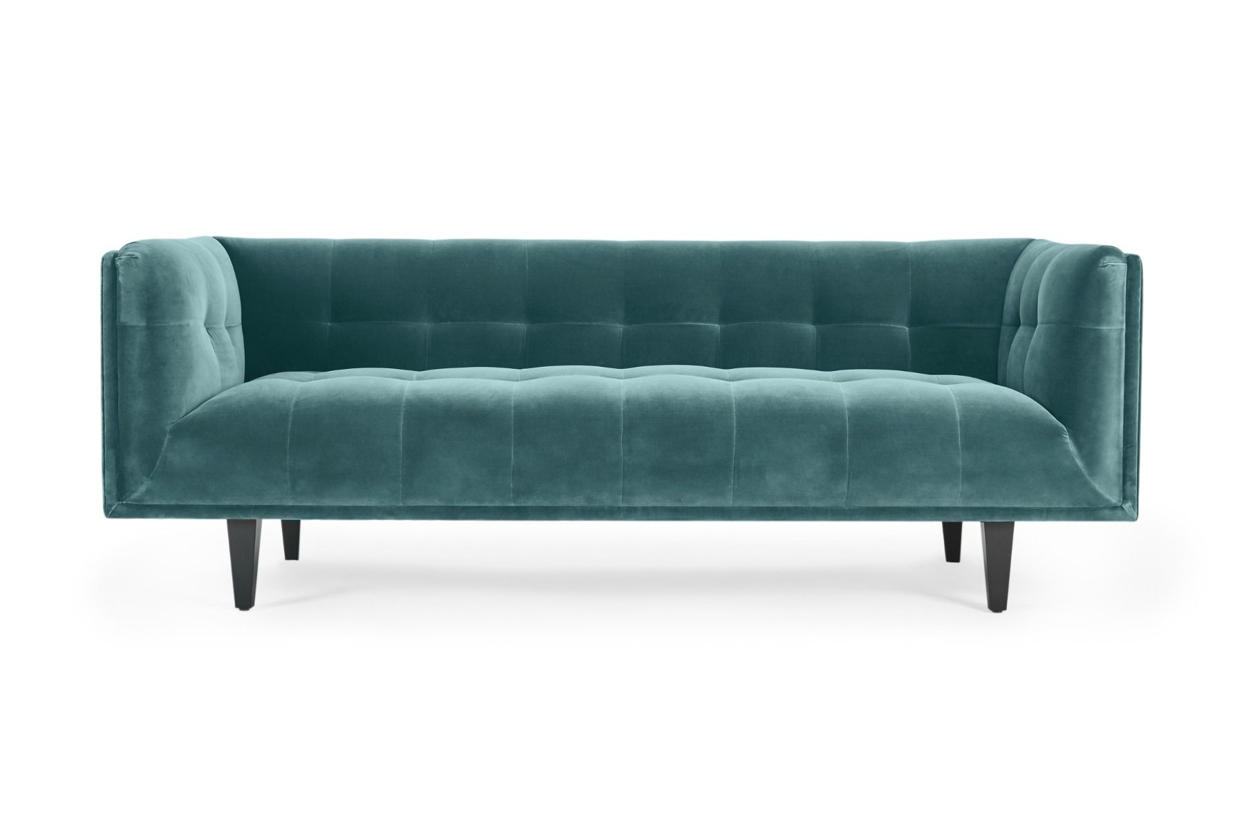 Florence Sofas Throughout Widely Used Florence 3 Seat Sofa Cotton Velvet Petrol (View 10 of 15)