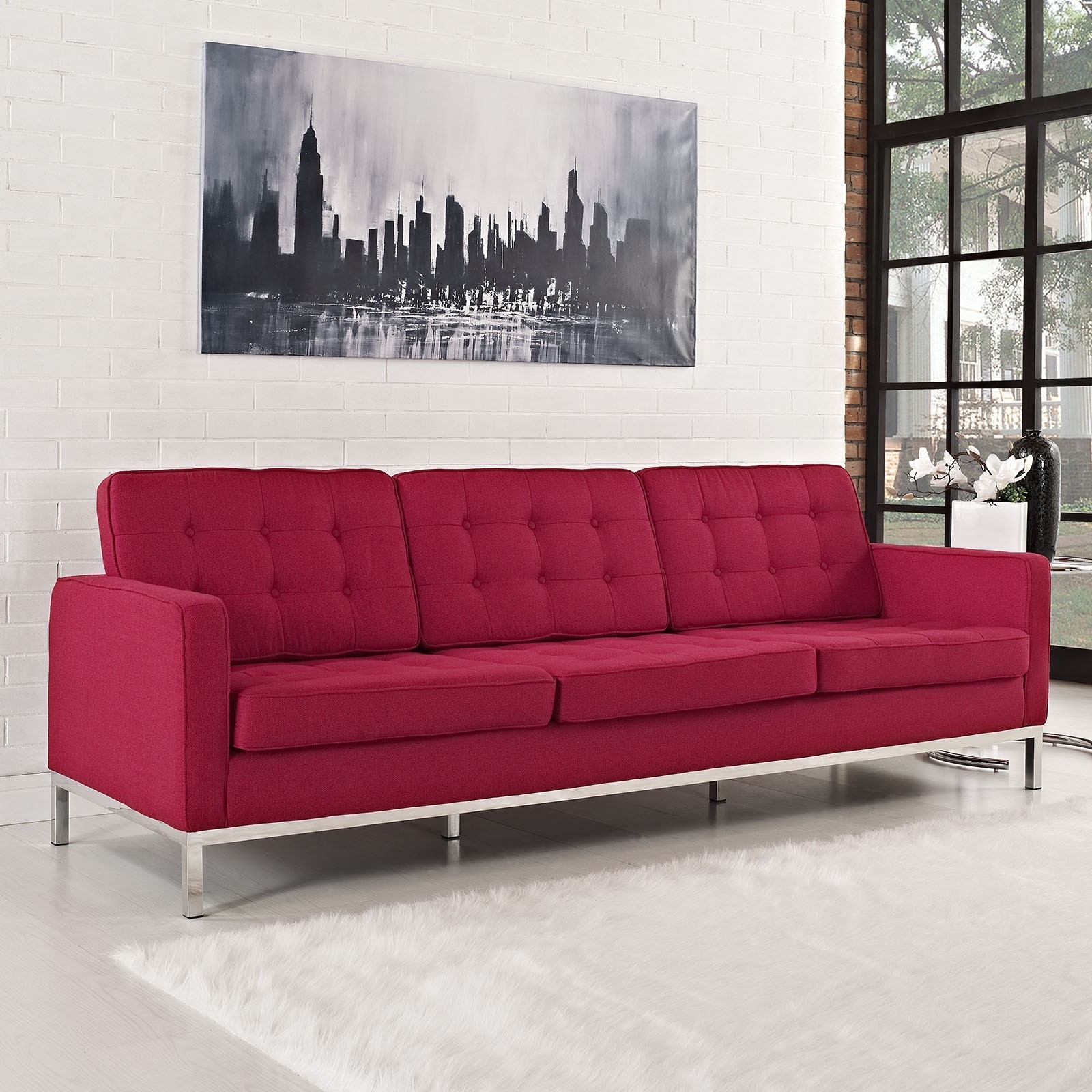 Florence Within Latest Florence Knoll Fabric Sofas (View 6 of 15)