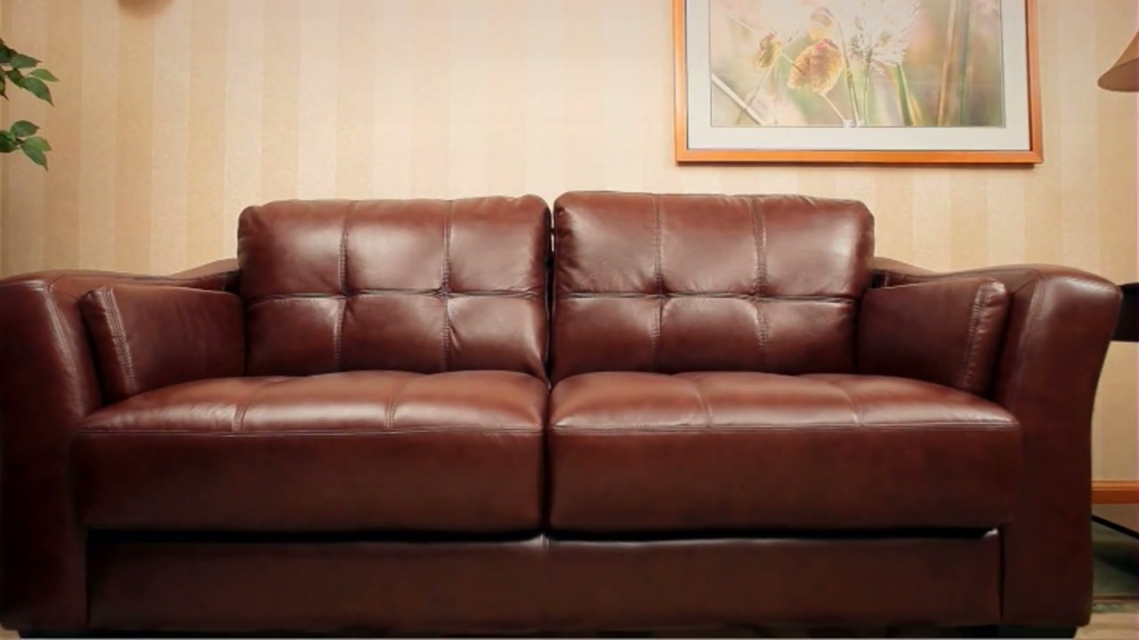 Florentine 3 Piece Top Grain Leather Set » Abbyson With Regard To Famous Florence Leather Sofas (View 14 of 15)