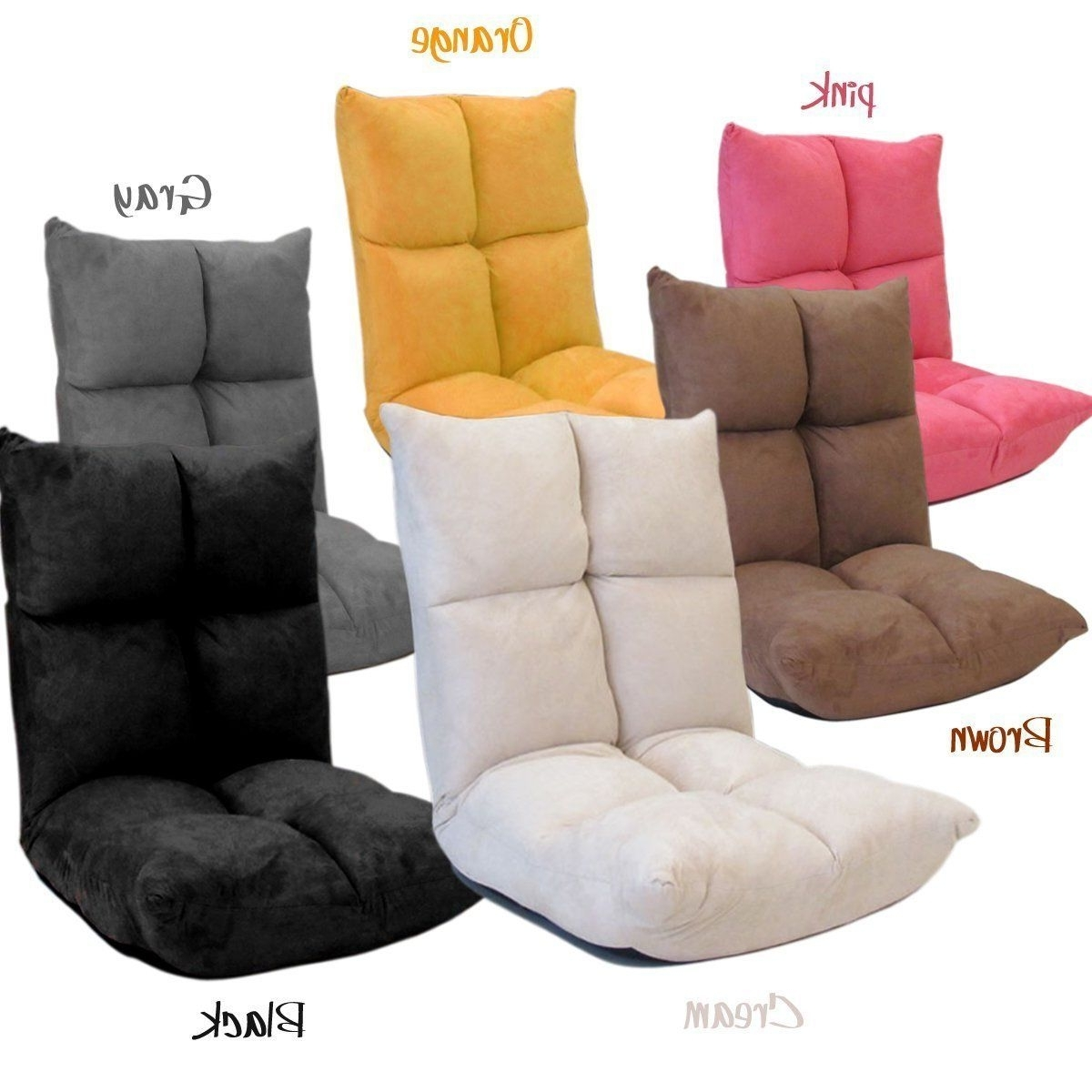 Fold Up Sofa Chairs For Preferred Futon Chair/gaming Chair ~ The Back Rest Can Be Adjusted Into (Gallery 5 of 15)