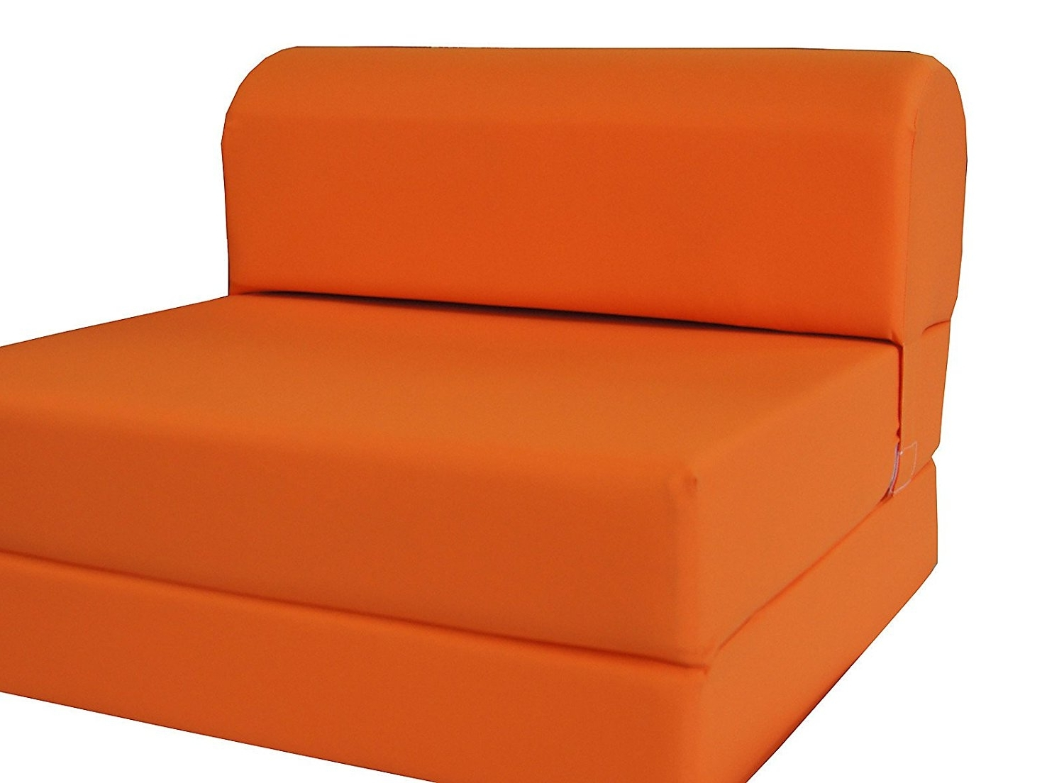 "Fold Up Sofa Chairs With Regard To Most Recently Released Amazon: Orange Sleeper Chair Folding Foam Bed Sized 6"" Thick X (View 9 of 15)"
