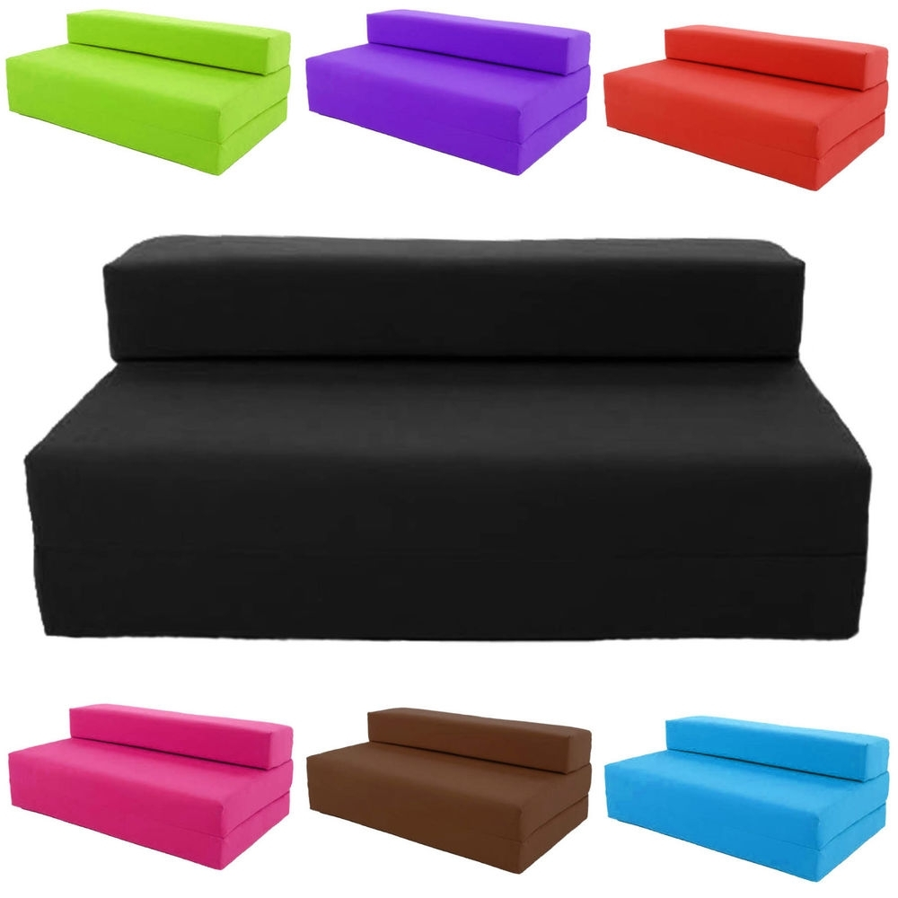 Fold Up Sofa Chairs With Regard To Widely Used Block Filled Fold Up Sofa Bed Z Guest Foam Futon Mattress In (View 10 of 15)