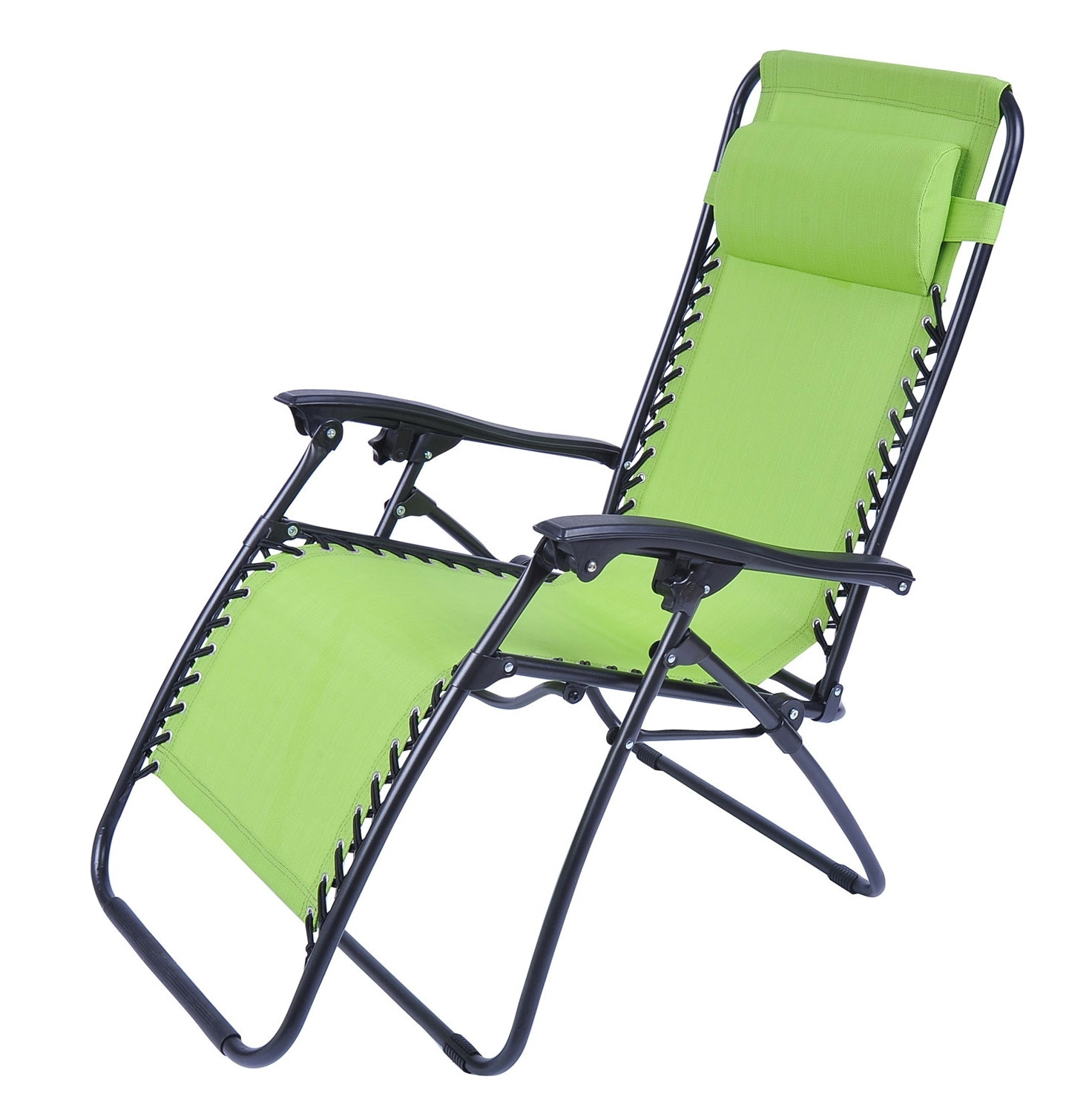 Folding Chaise Lounge Chair Patio Outdoor Pool Beach Lawn Recliner Regarding 2017 Zero Chaise Lounges (View 6 of 15)