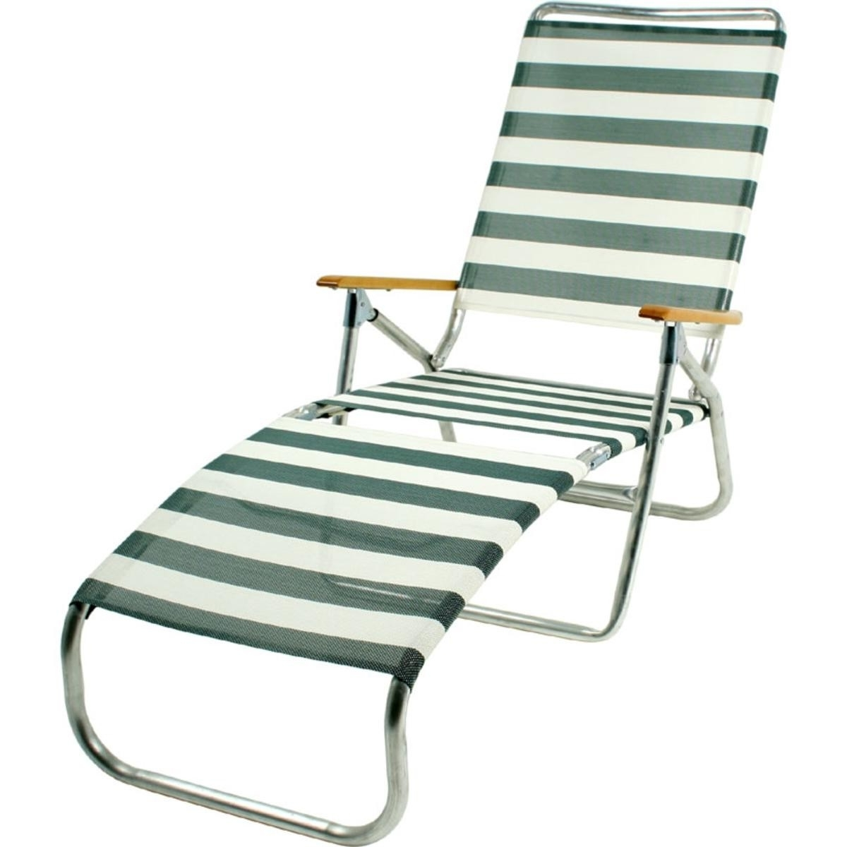 Folding Chaise Lounge Chairs Intended For Well Known Folding Beach Chaise Lounge Chairs Ideas With Idea  (View 3 of 15)