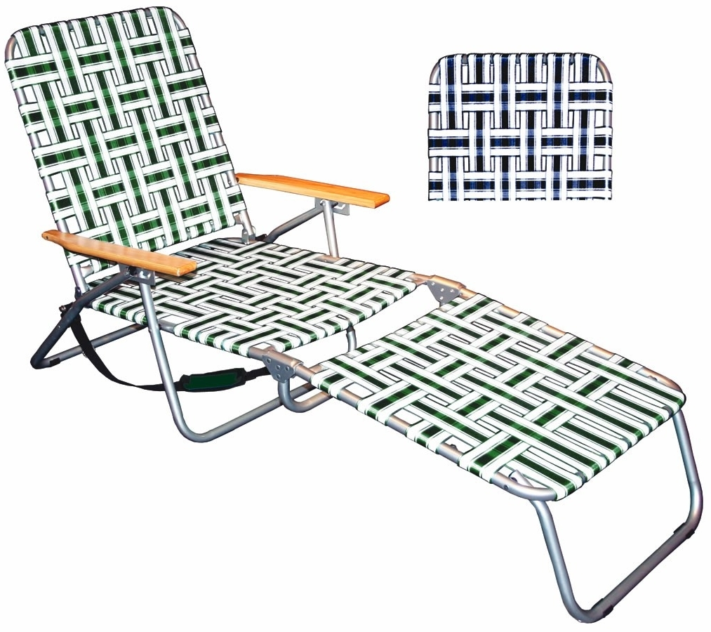Folding Chaise Lounges Regarding Preferred Outdoor : Lowes Outdoor Double Chaise Lounge Costco Patio (View 8 of 15)