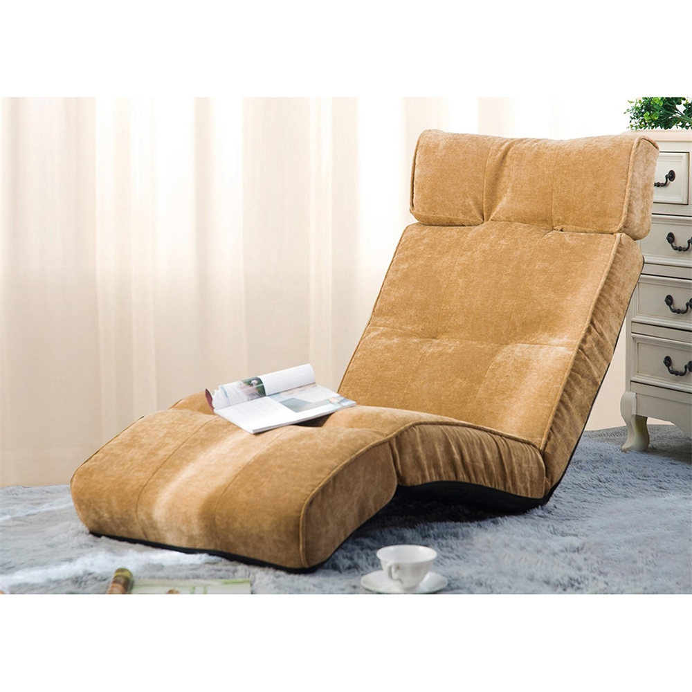 Folding Sofa Chairs Regarding Trendy Merax Floor Recliner Lazy Sofa Bed Folding Chair Adjustable Game (View 4 of 15)