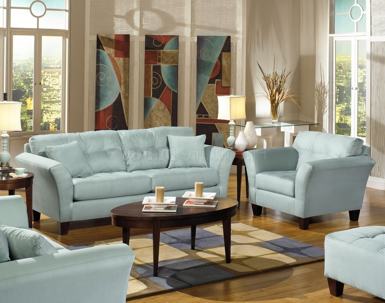 For The With Current Blue Sofa Chairs (View 3 of 15)