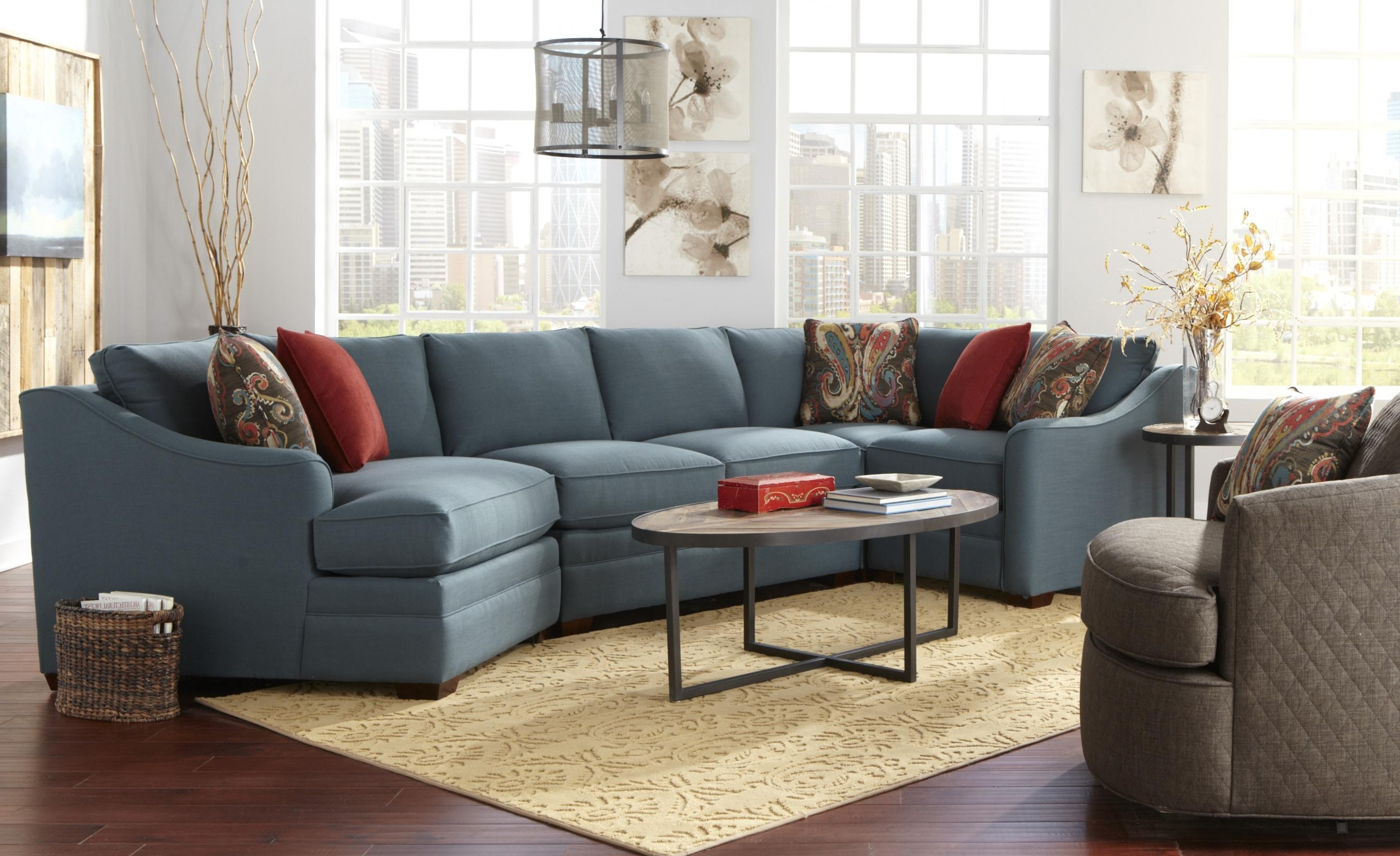 Four Piece <B>Customizable</b> Sectional Sofa With Raf Cuddler Throughout Widely Used Sectional Sofas With Cuddler (View 11 of 15)