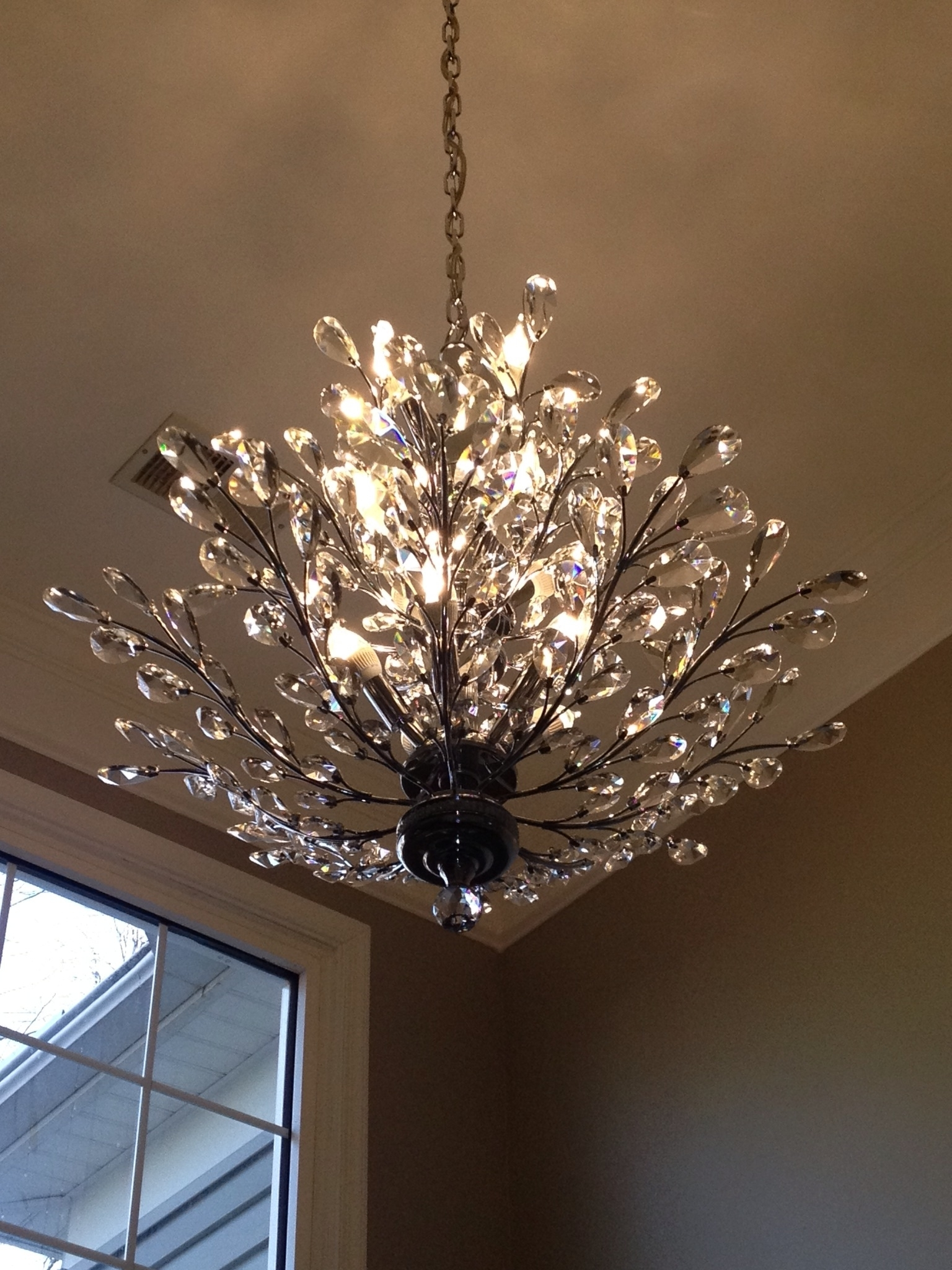 Foyer Chandelier: Branch Of Light Design, Joshua Marshall Home with Latest Branch Crystal Chandelier