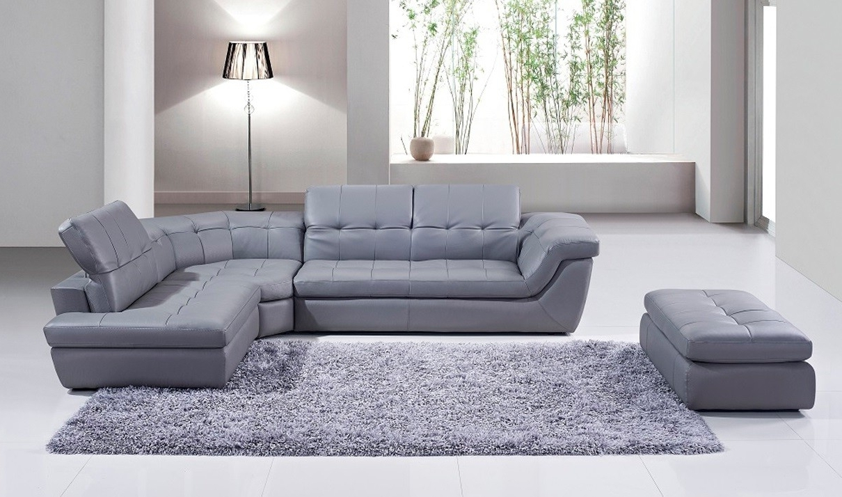 Free In Popular Leather Sectional Sofas With Ottoman (View 8 of 15)