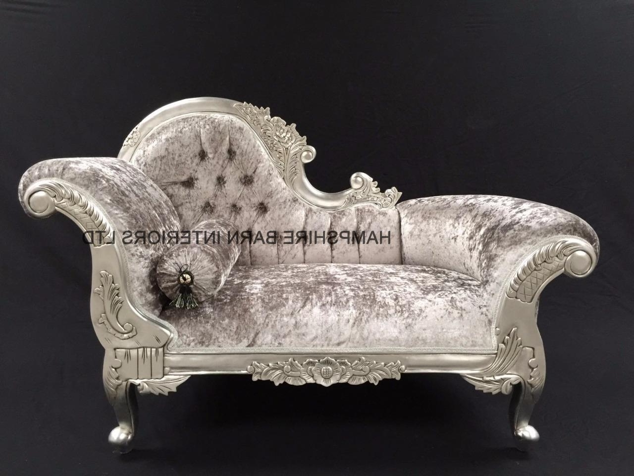 French Chaise Lounges In Well Known Elegant French Chaise Lounge With Chaise Lounge Small Kc Designs (View 10 of 15)
