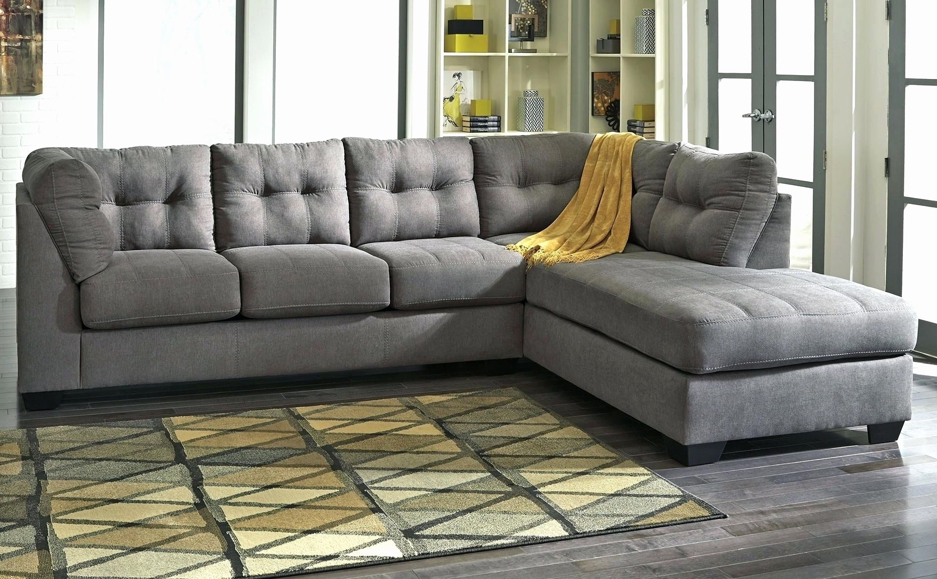 Fresh Grey Velvet Sectional Sofa 2018 – Couches And Sofas Ideas Within Famous Velvet Sectional Sofas With Chaise (View 8 of 15)