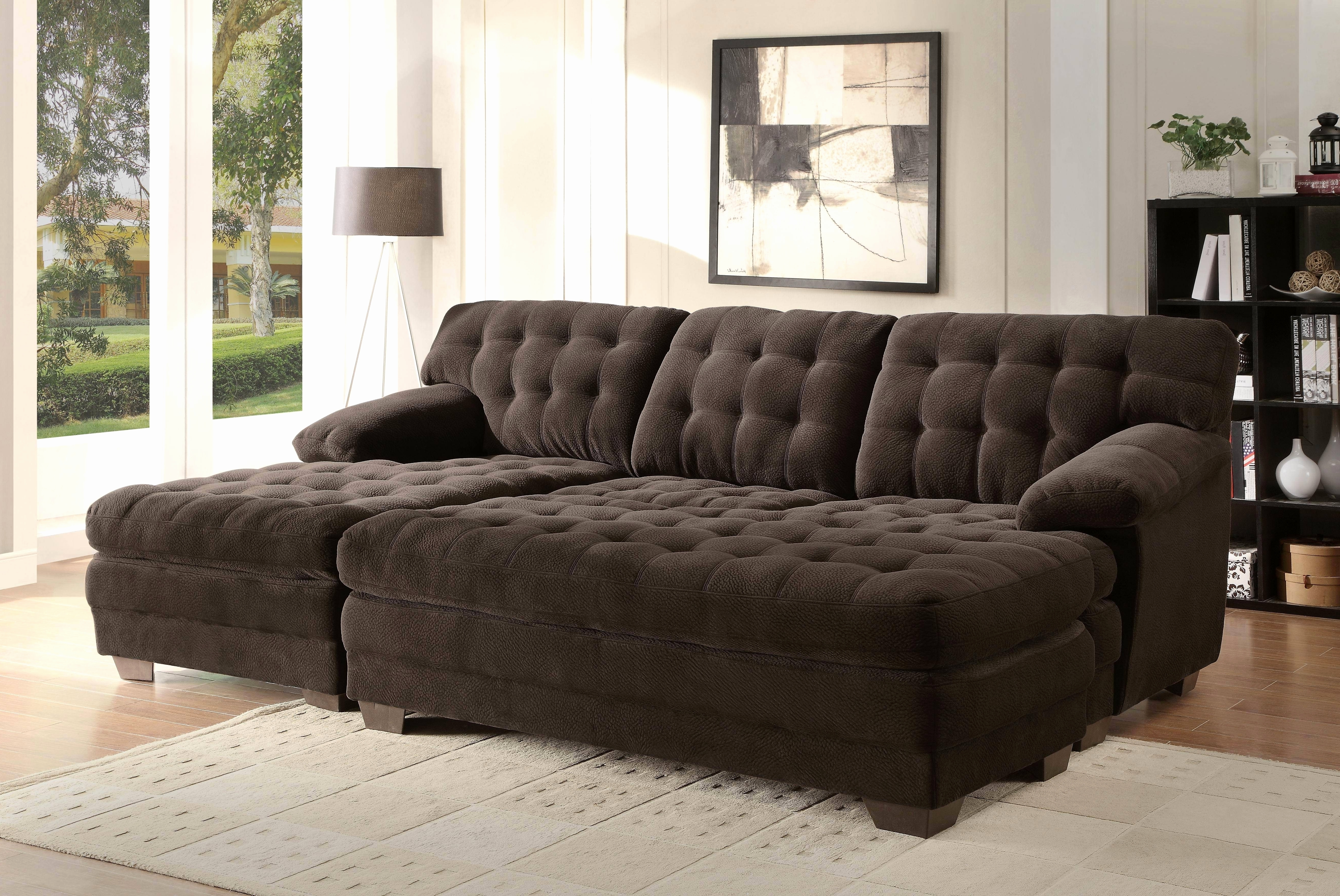 Fresh Sectional Sofa With Extra Wide Chaise 2018 – Couches Ideas Inside Best And Newest Wide Seat Sectional Sofas (View 10 of 15)