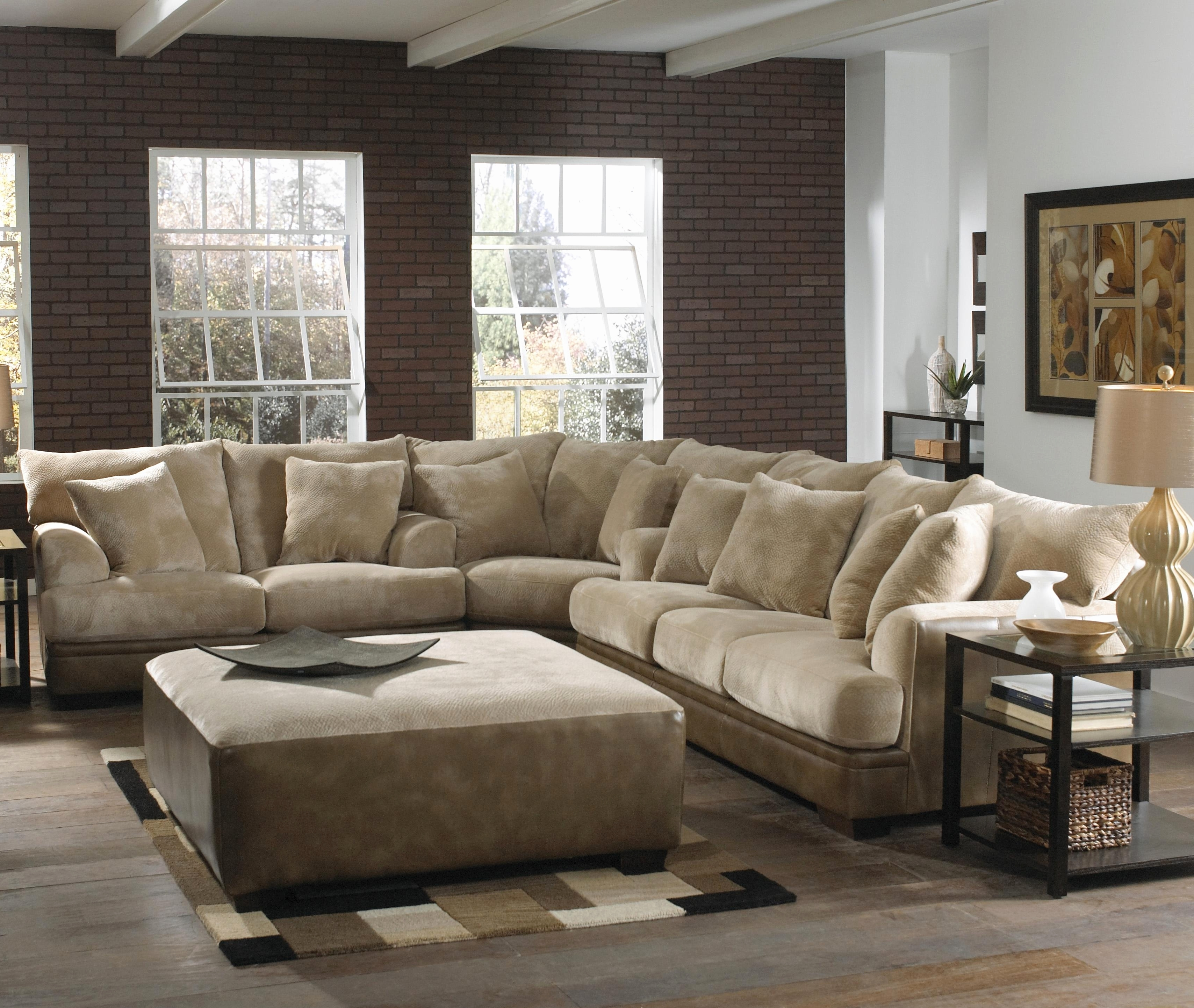 Fresh Sectional Sofa With Extra Wide Chaise 2018 – Couches Ideas Regarding Newest Wide Sectional Sofas (View 11 of 15)