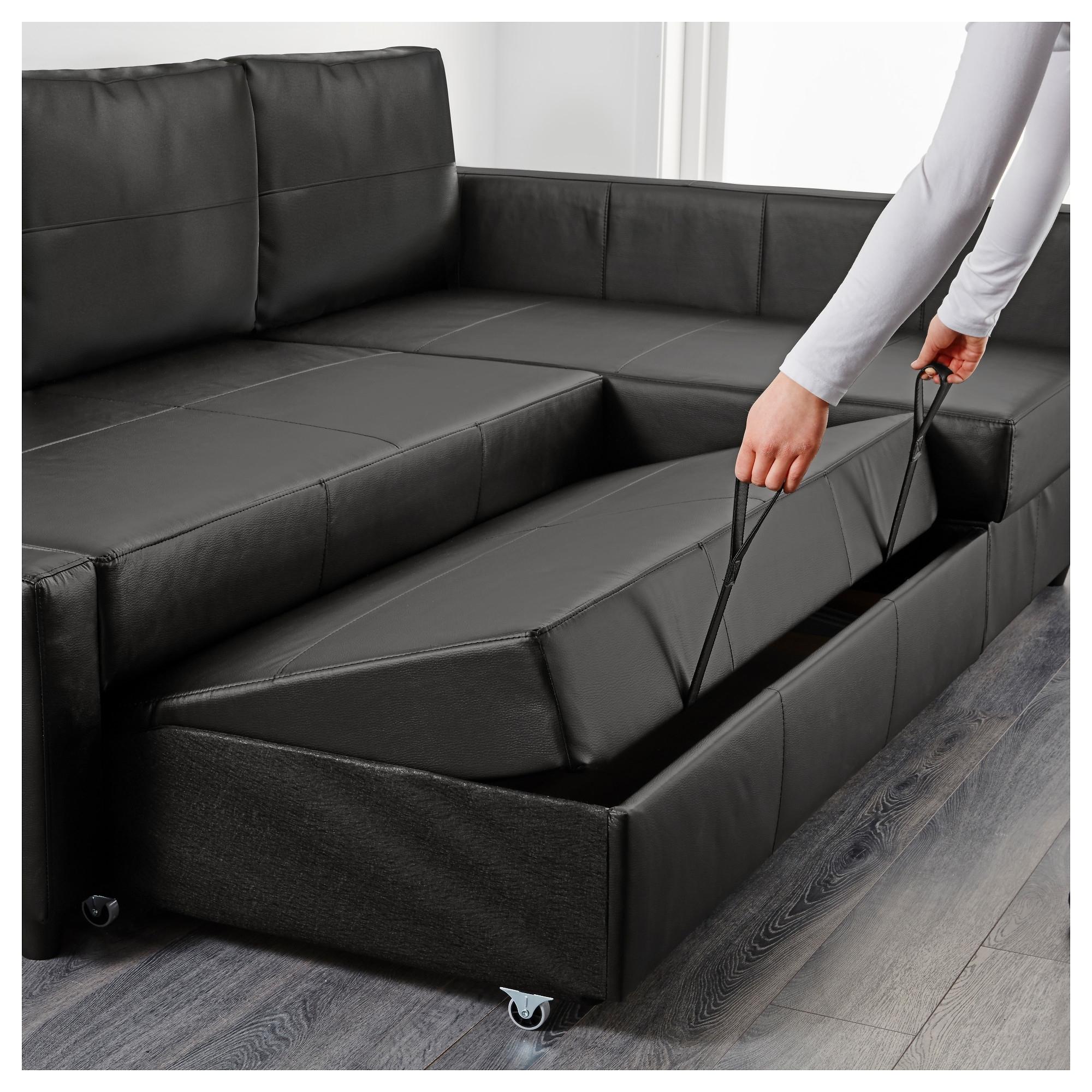 Friheten Corner Sofa Bed With Storage Bomstad Black – Ikea With 2017 Ikea Corner Sofas With Storage (View 2 of 15)