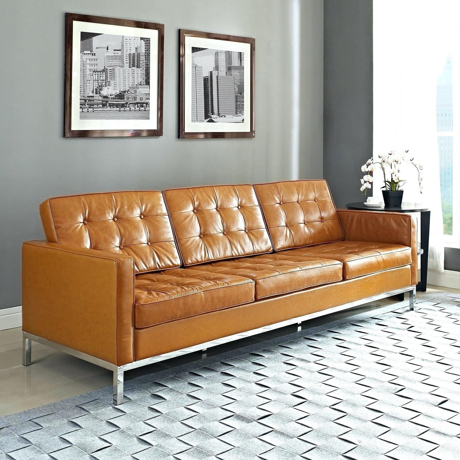 Full Image For Samuel Leather Sofa Light Tan Couch Living Room Inside Current Light Tan Leather Sofas (View 10 of 15)