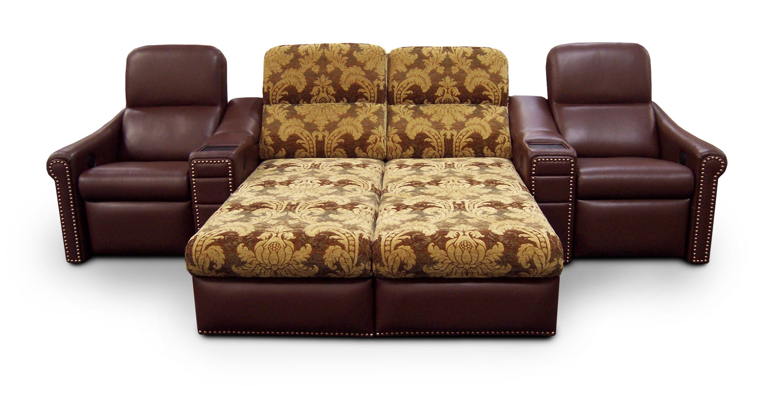Funiture: Sleeper Sofa Ideas For Living Room Using Brown Leather With Regard To Well Liked Chaise Lounge Sleeper Sofas (View 6 of 15)