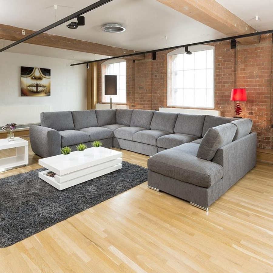 Furniture : 2 Seater Sofa Throw Corner Sofa Or Two Sofas L Shaped Regarding Current Big U Shaped Couches (View 6 of 15)