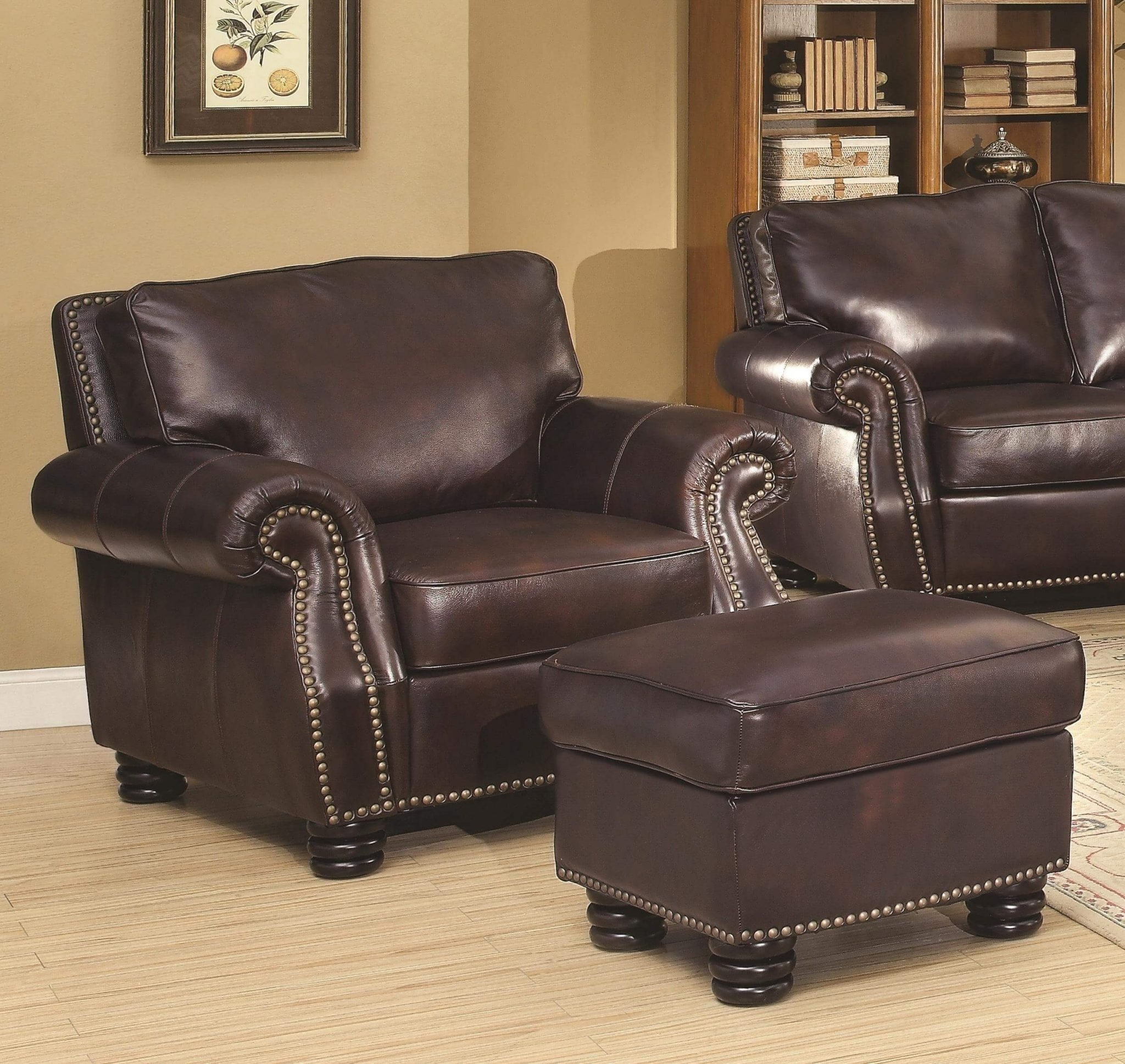 Furniture: Alluring Leather Chair And Ottoman For Cozy Home In Trendy Chairs With Ottoman (View 11 of 15)